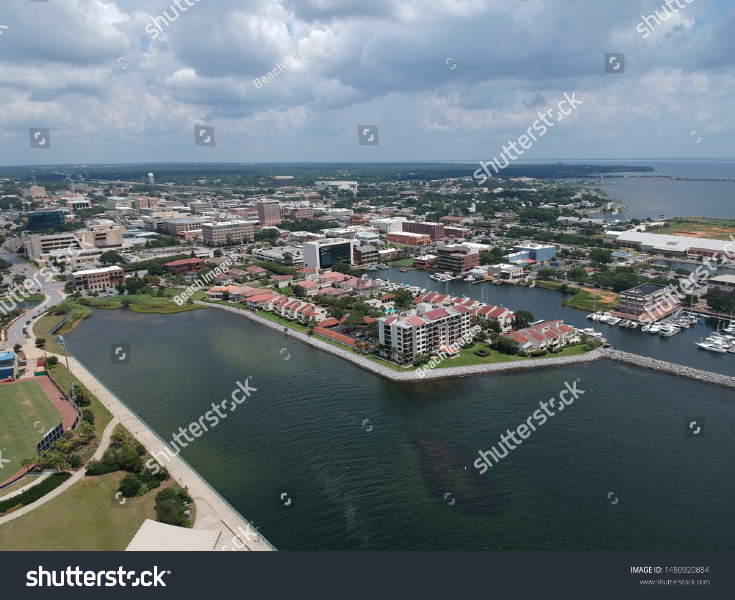 View over downtown Pensacola this summer! #1480920884