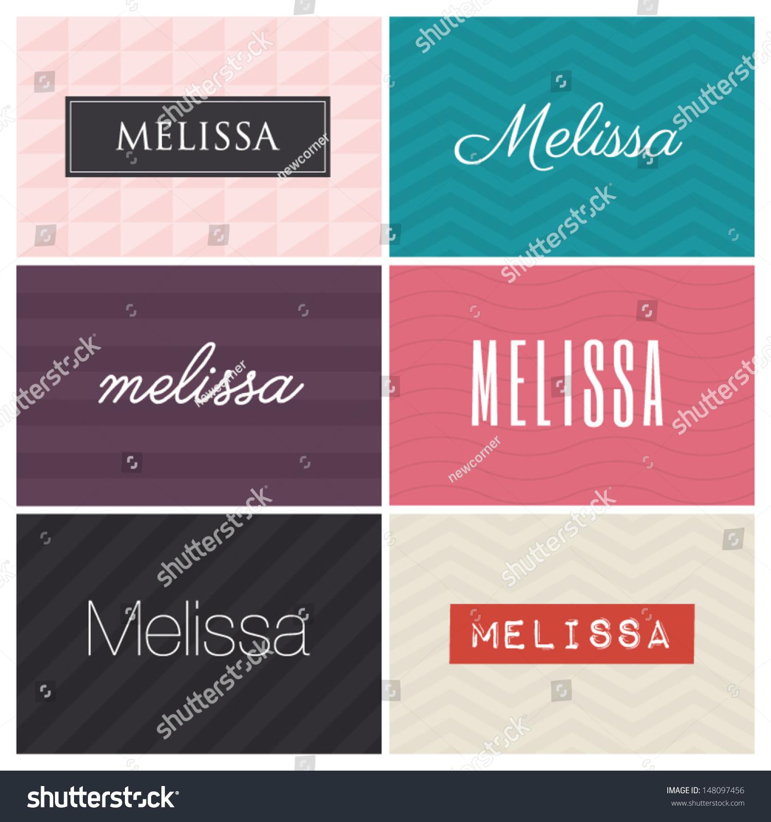 Stock Vector Name Melissa