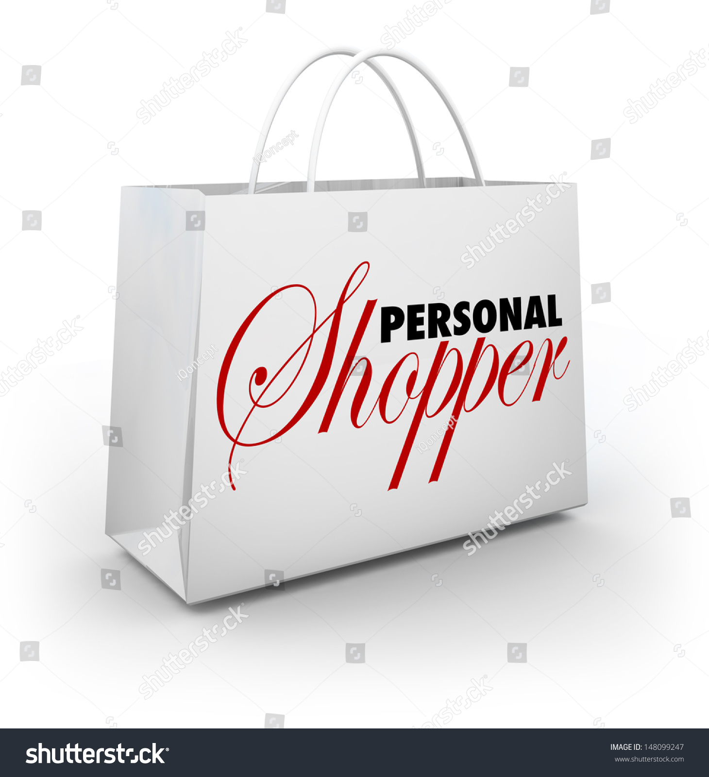 Words personal shopper on shopping bag stock illustration for How to be a professional shopper