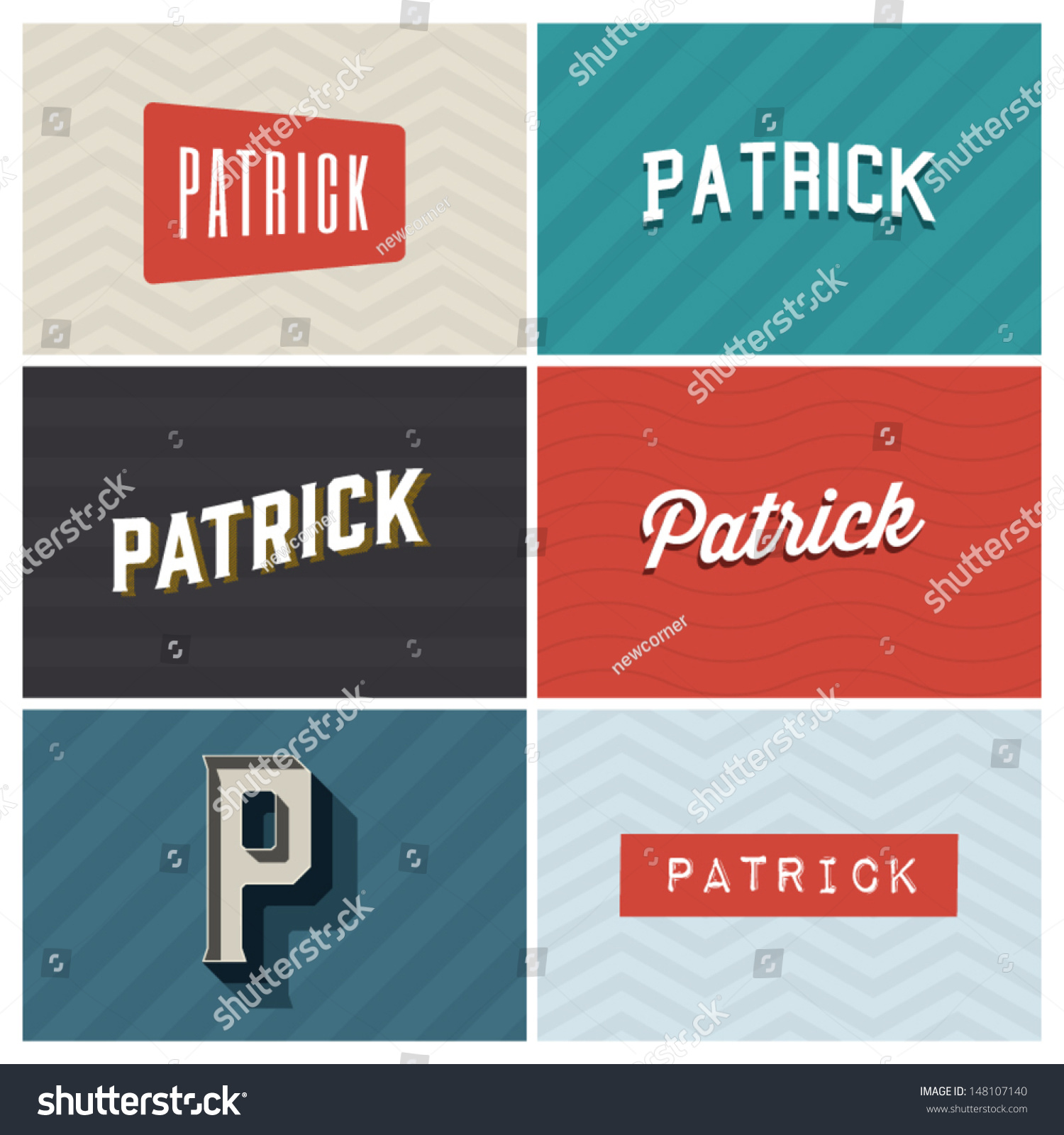Name Patrick Graphic Design Elements