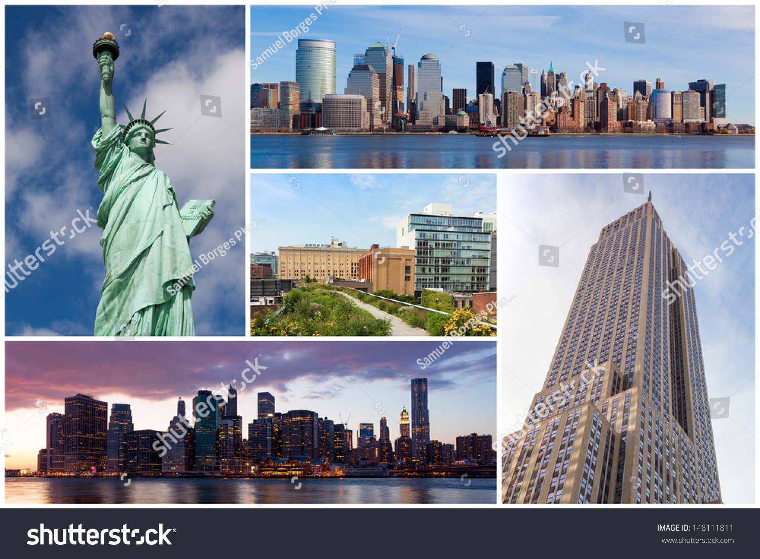 New york city famous landmarks picture stock photo for Iconic new york landmarks
