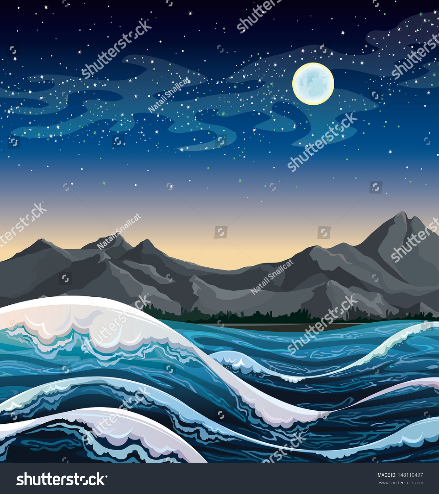 clip art stormy night � cliparts