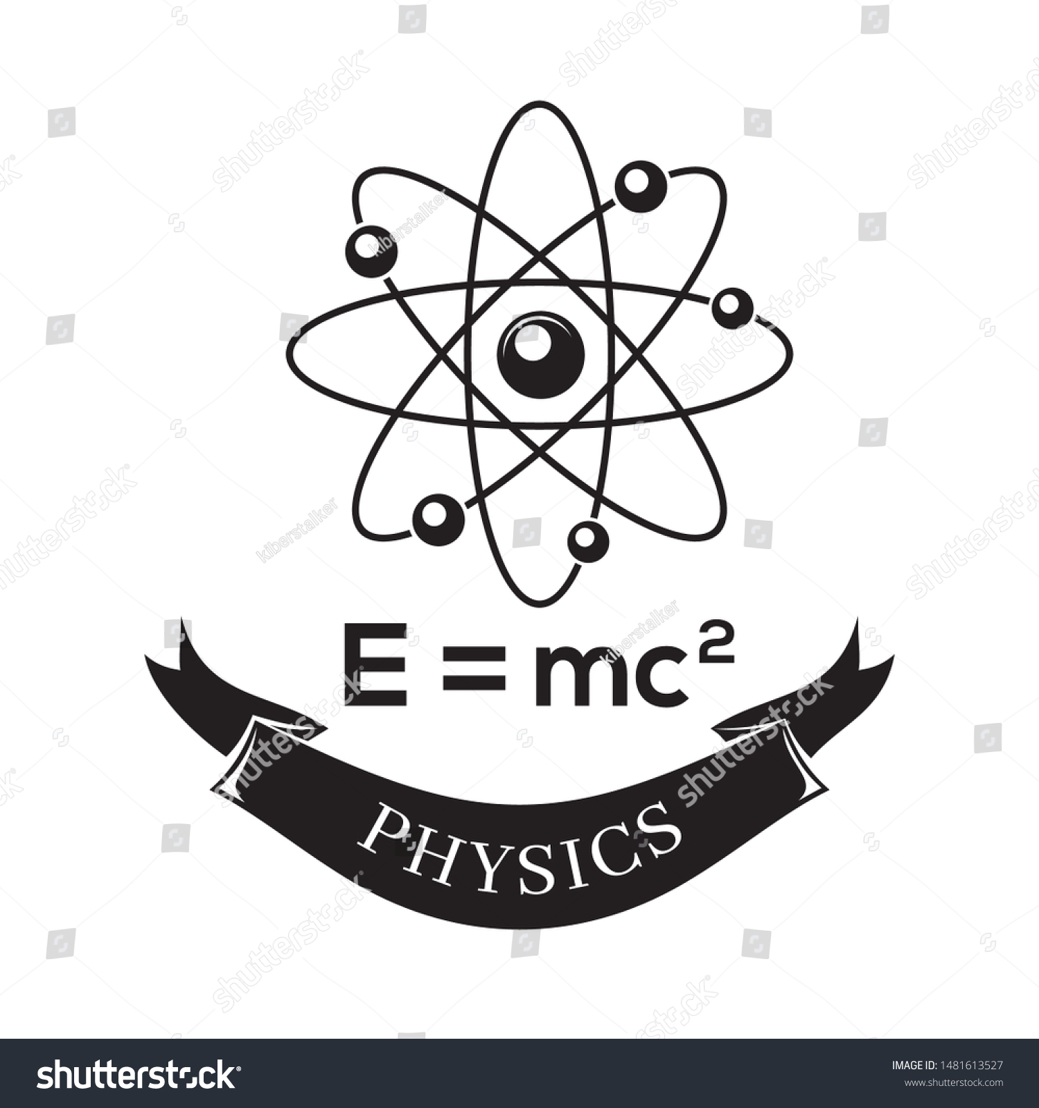 black white vector icon science physics stock vector royalty free 1481613527 https www shutterstock com image vector black white vector icon science physics 1481613527