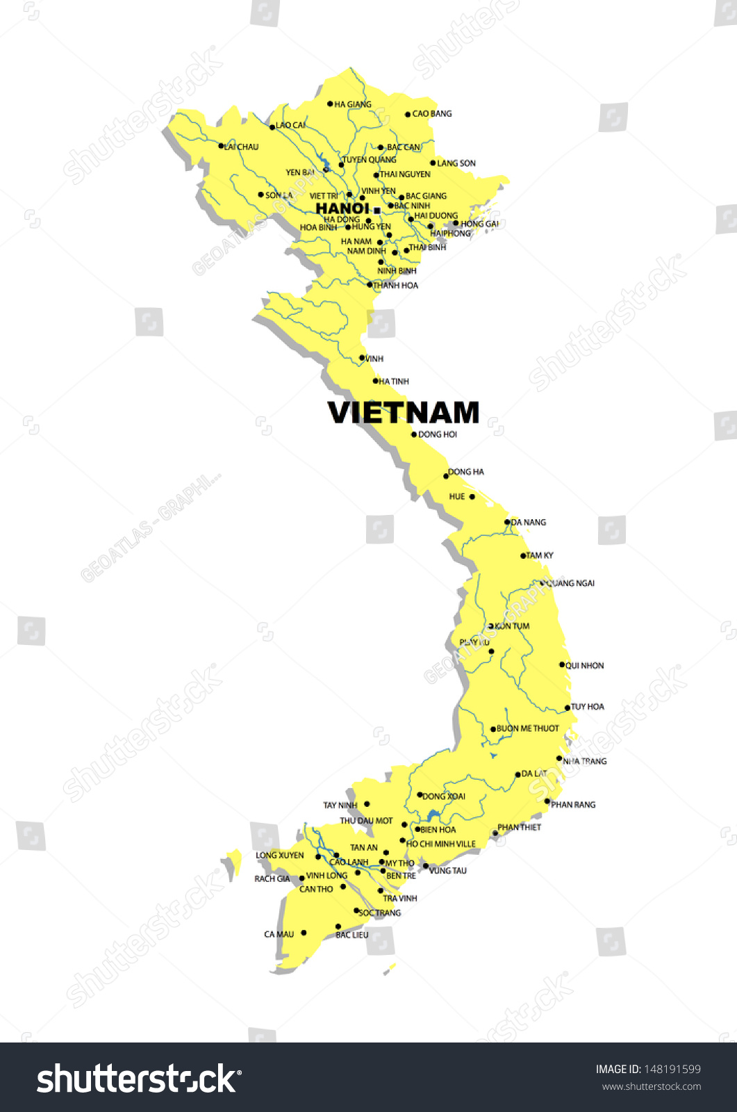 Simple map vietnam stock illustration 148191599 shutterstock simple map of vietnam sciox Image collections
