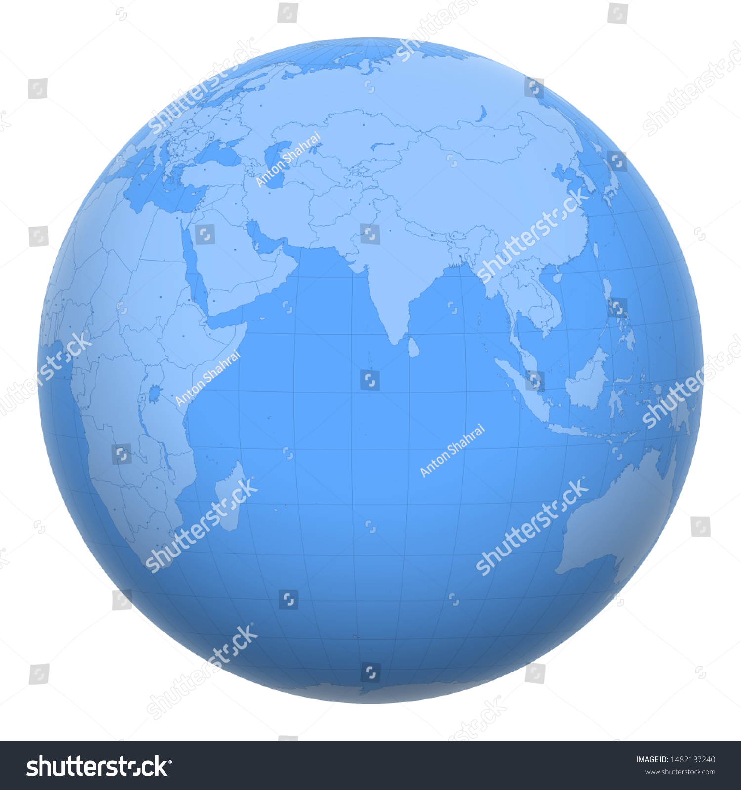 Image of: Maldives On Globe Earth Centered Location Stock Vector Royalty Free 1482137240