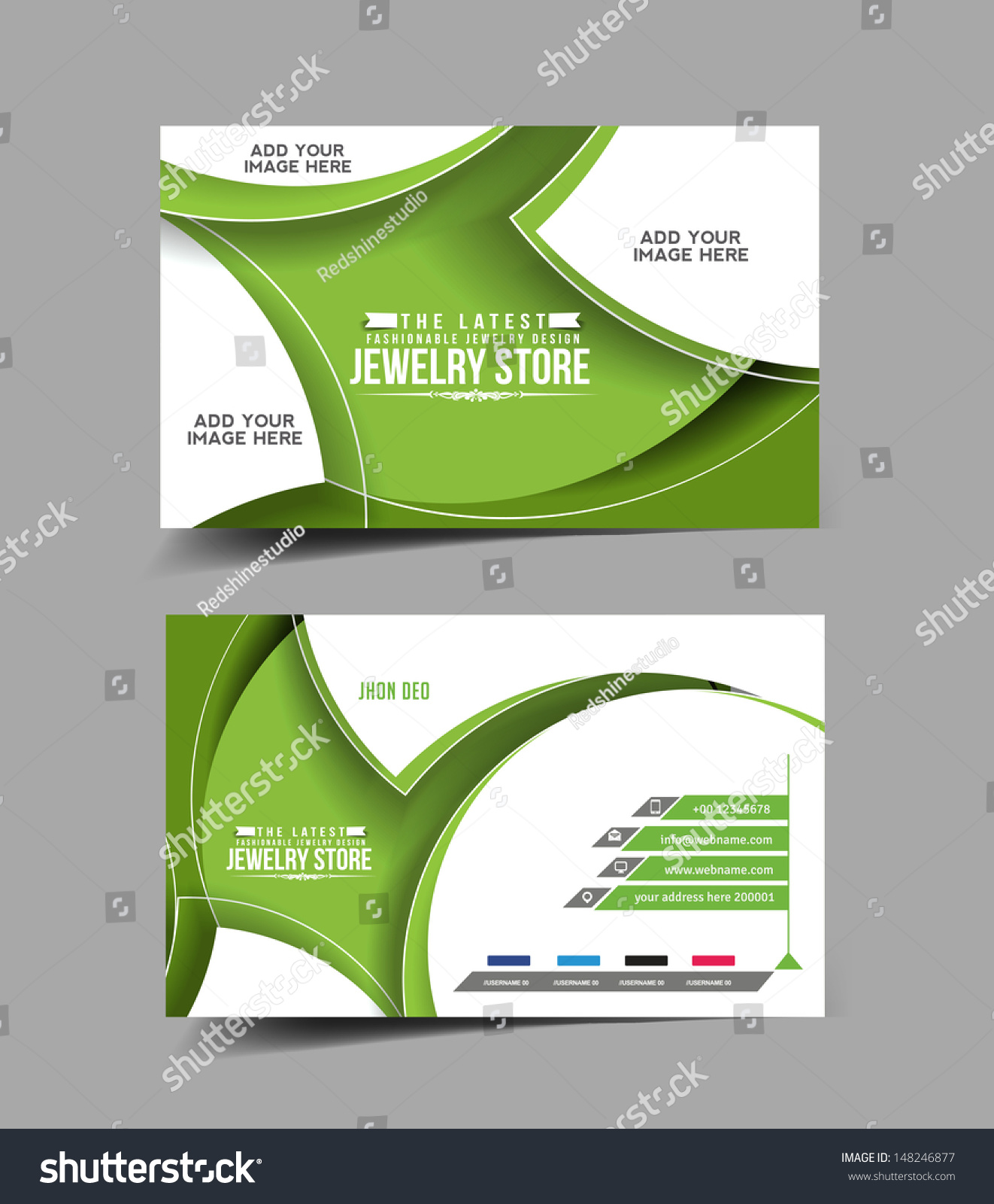 Jewelry Store Business Card Vector Design Stock Vector 148246877 ...