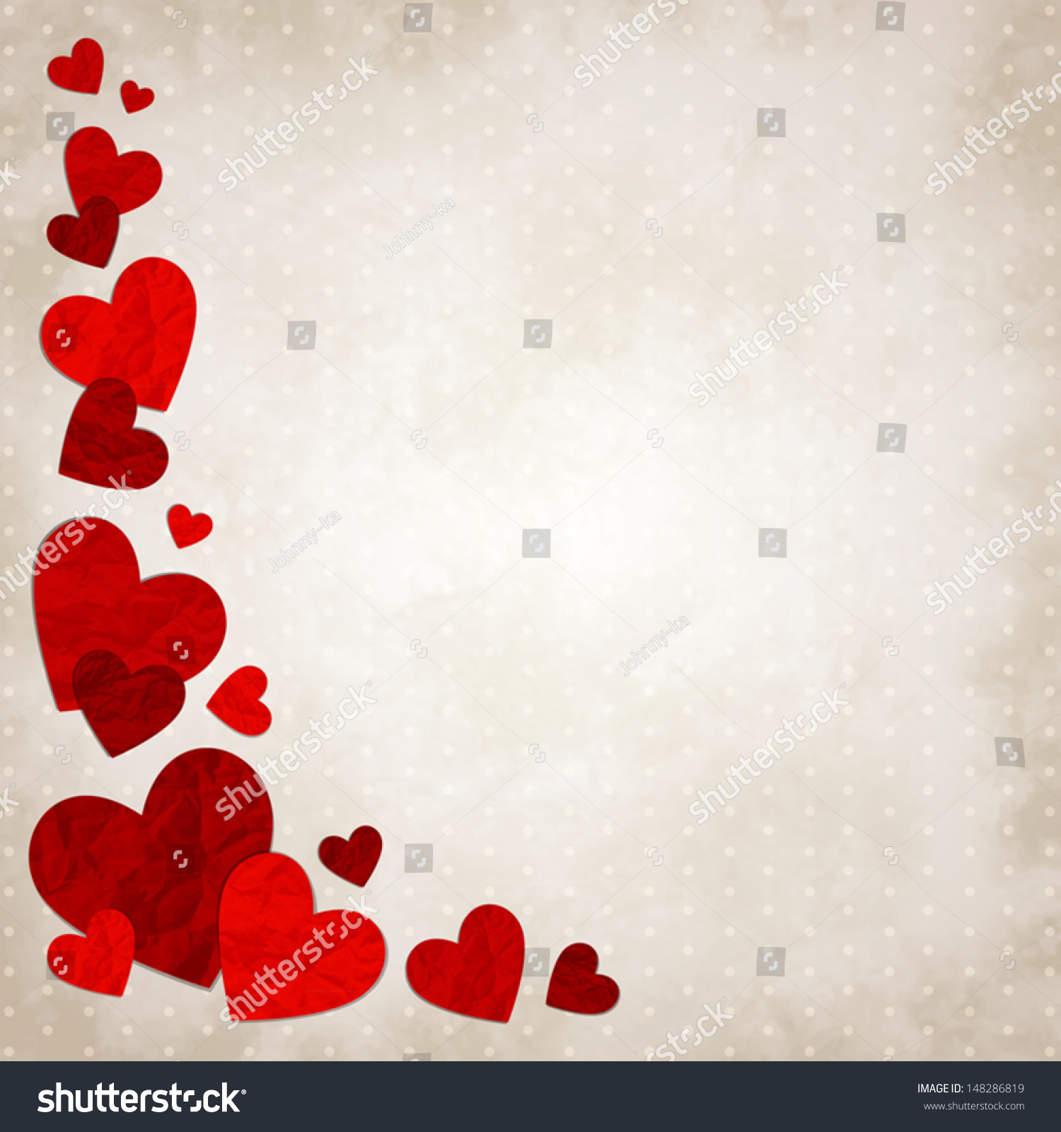 Vector Illustration Red Love Hearts On Image Vectorielle 148286819 - Shutterstock