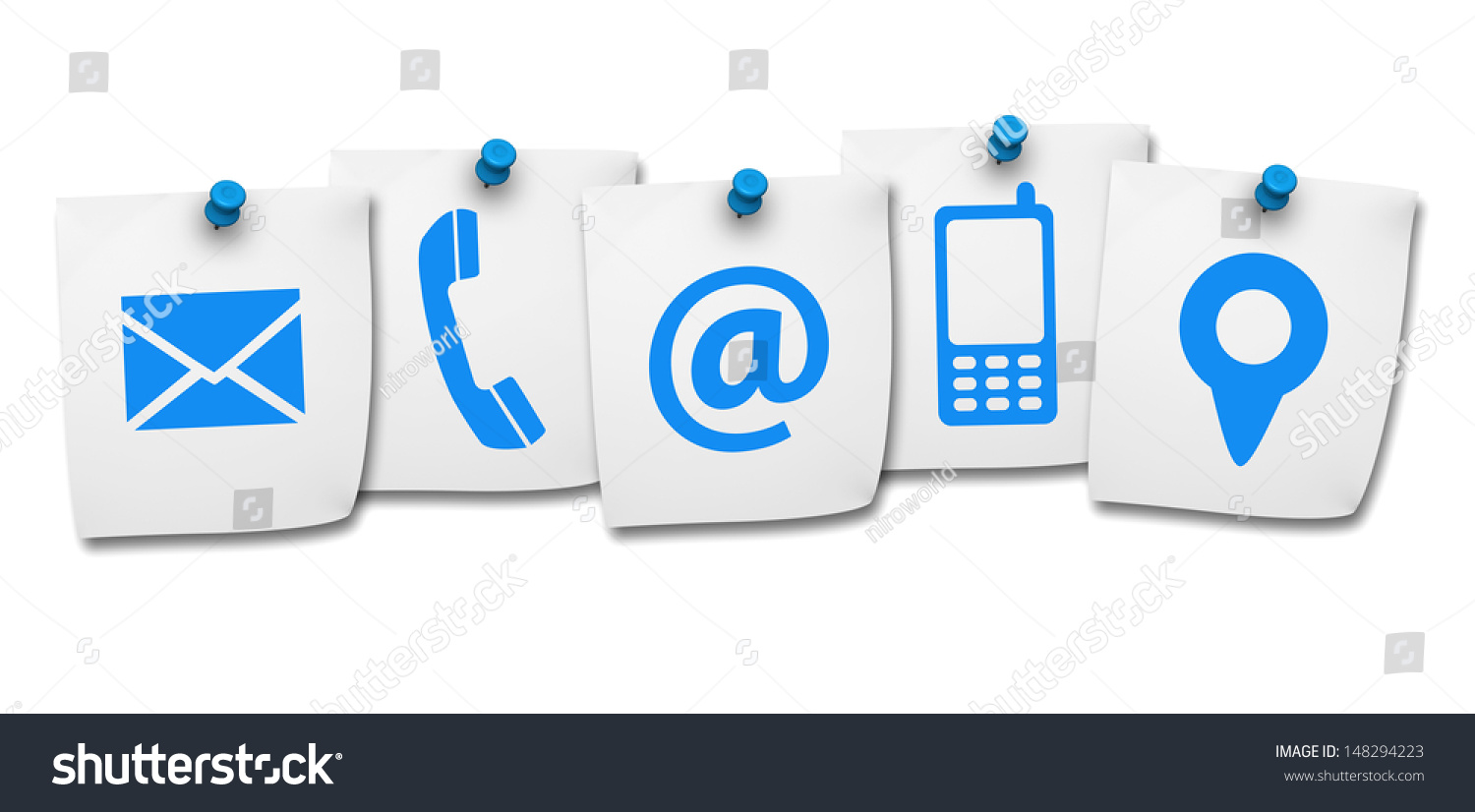 Website Internet Contact Us Page Concept Stock