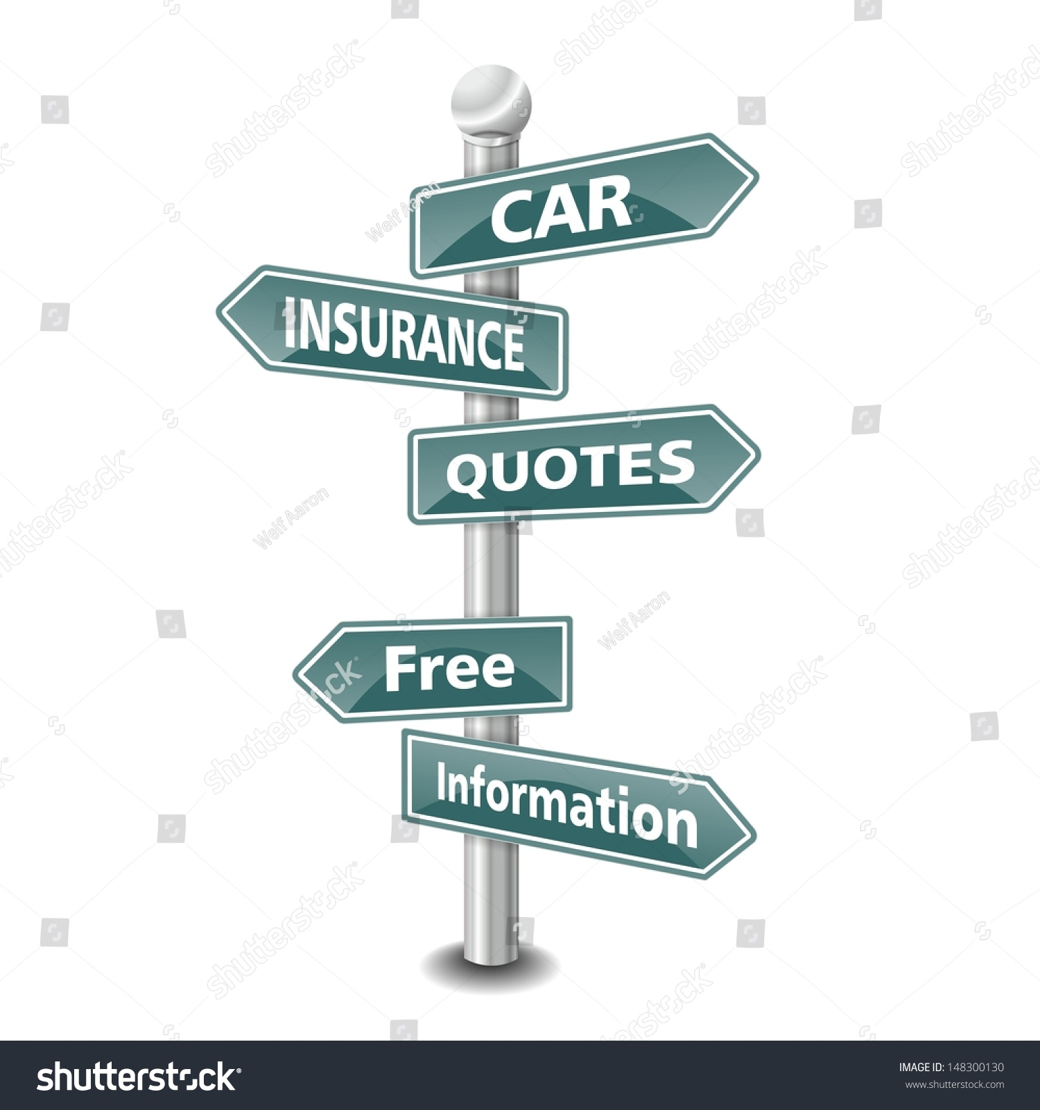 The Best Insurance Quotes: Words Car Insurance Quotes Icon Designed Stock Photo