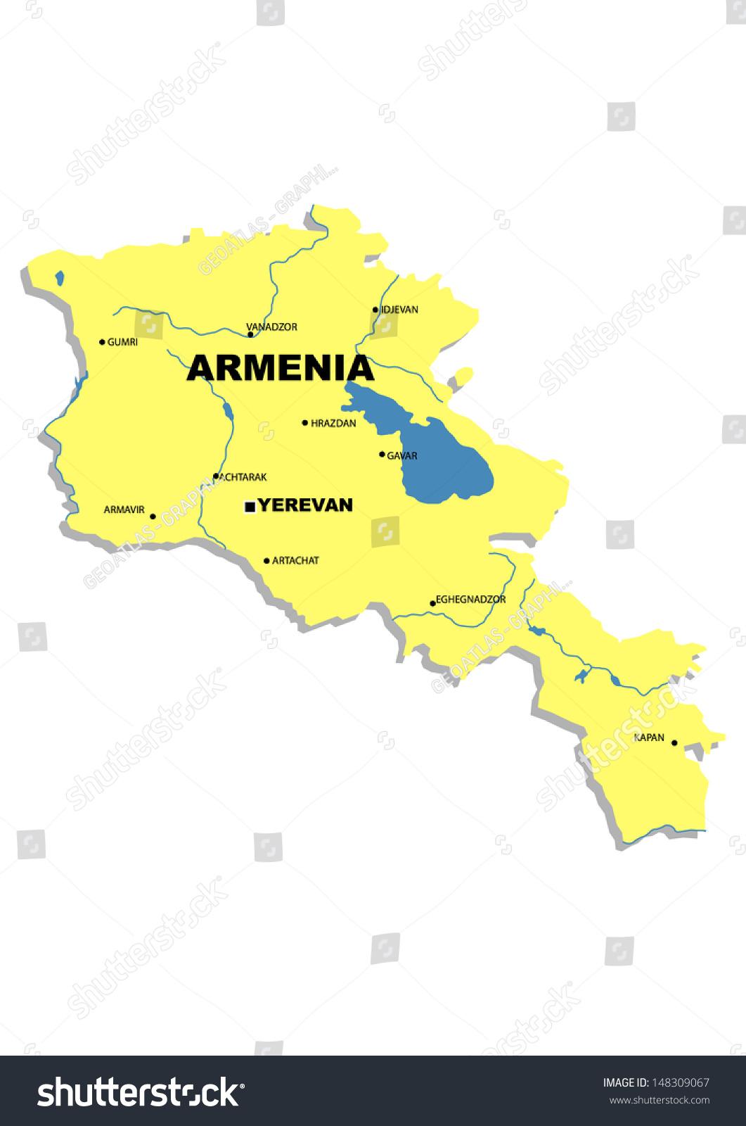 Administrative Map Armenia Stock Illustration 148309067 Shutterstock