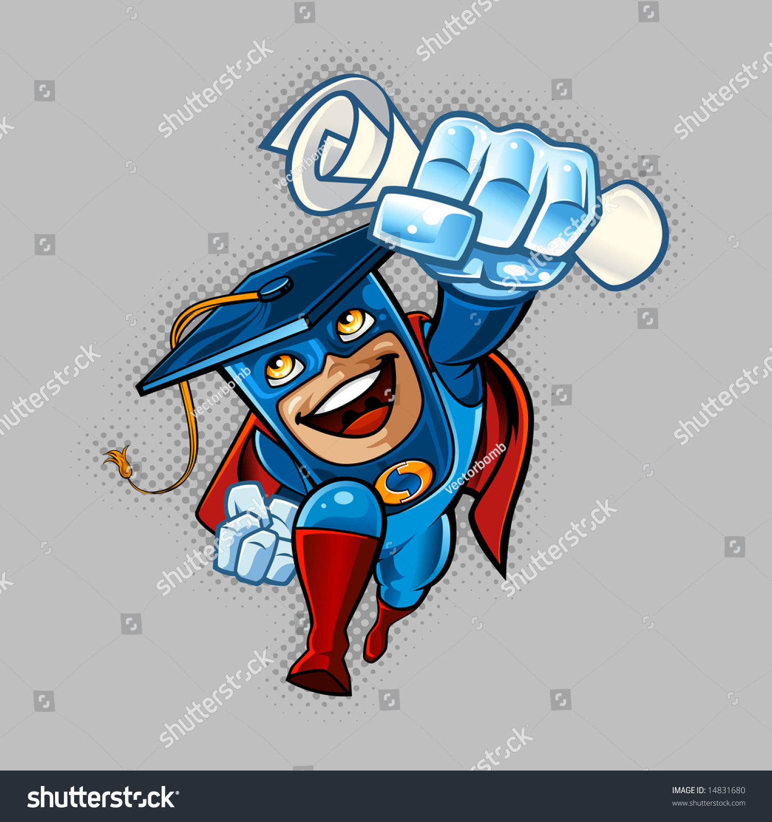 Generic University Logo Illustration Super Her...