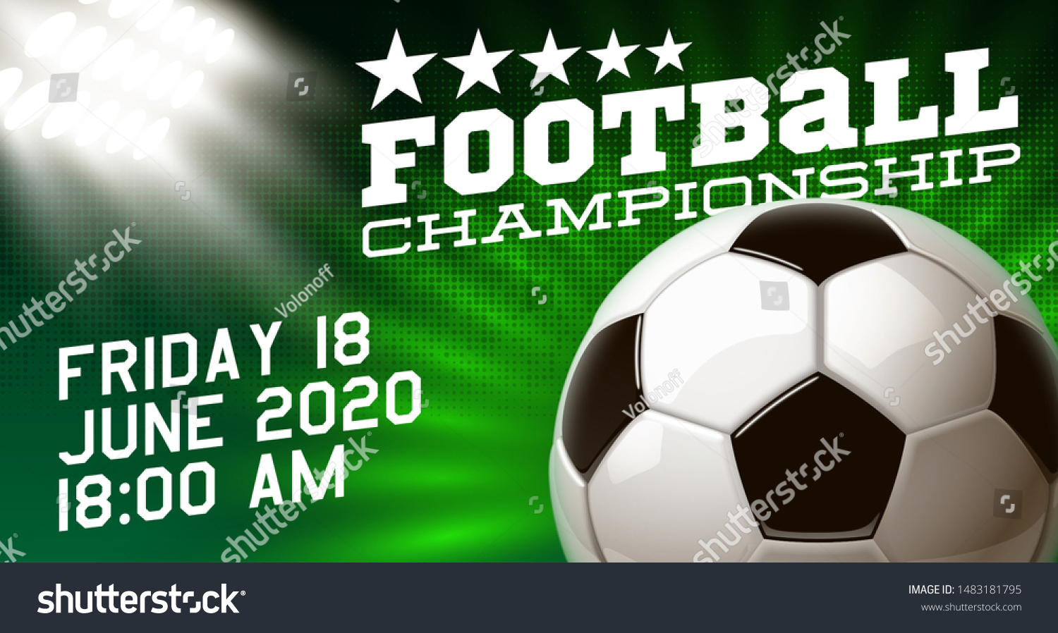 Football Modern Sports Poster Cup Design Stock Vector Royalty Free 1483181795