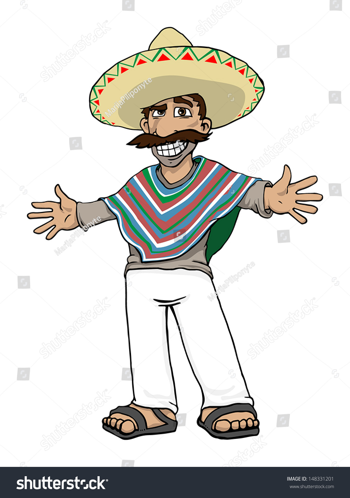 Cartoon Characters Mexican : Mexican cartoon character vector illustration stock