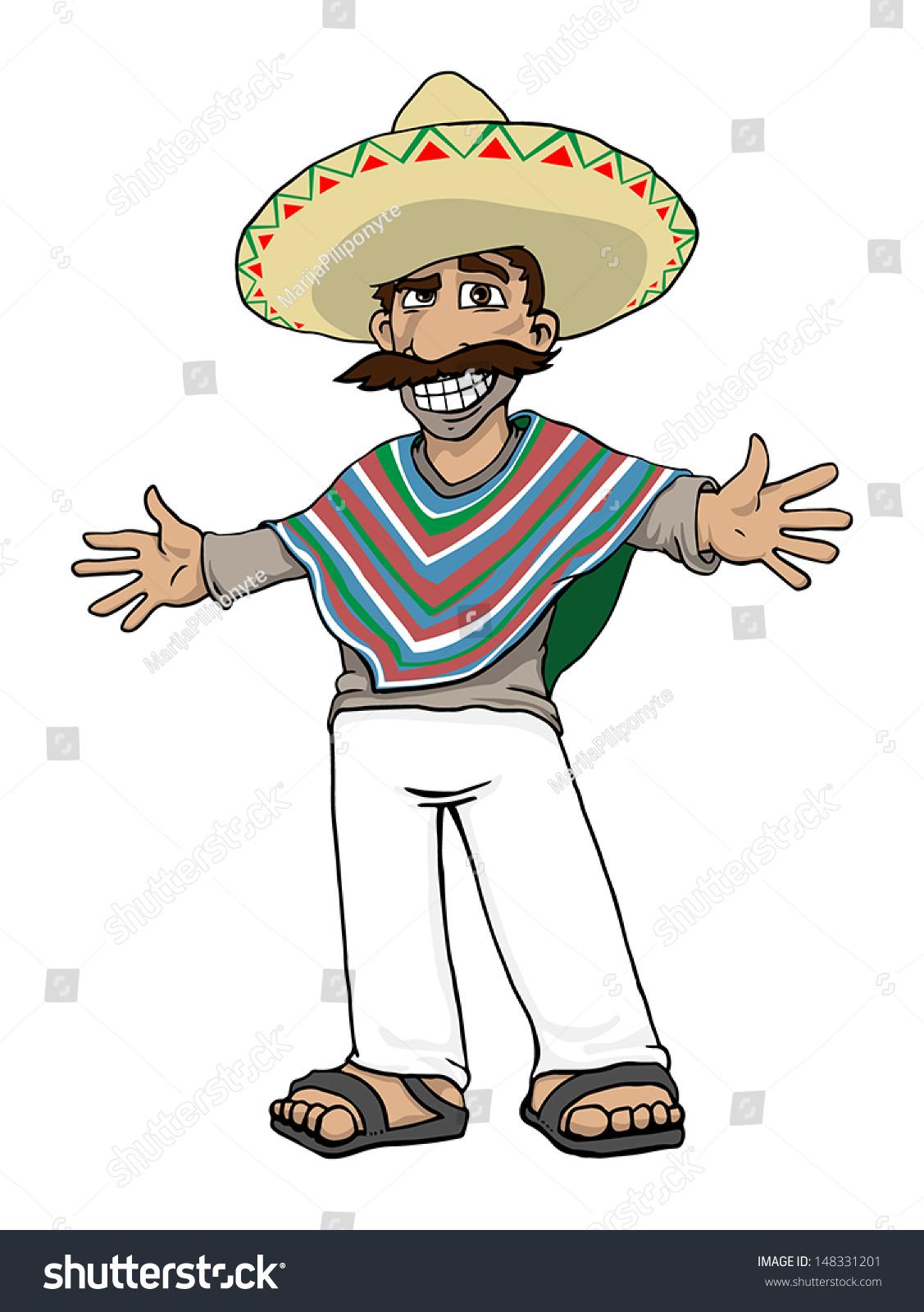 mexican cartoon character vector illustration stock vector