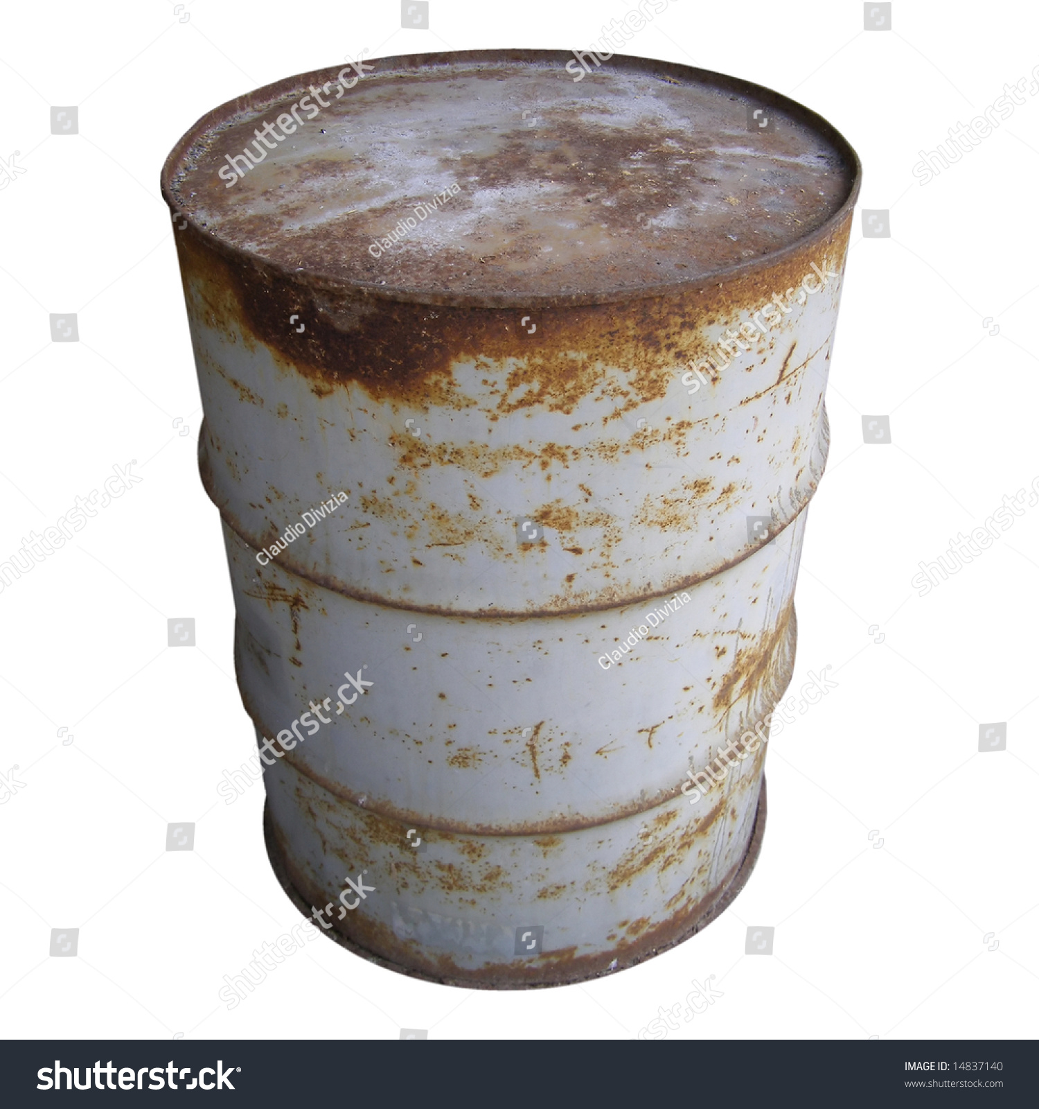 Steel drum barrel for oil fuel stock photo 14837140 for Motor oil by the barrel