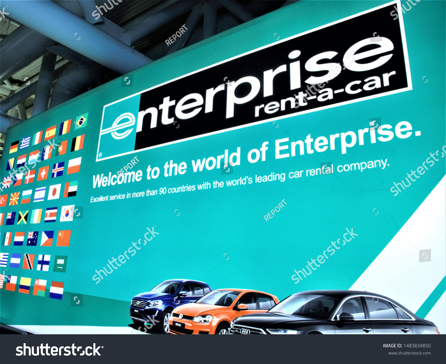 Romeaugust 102019 Logo Enterprise Rent Car Stock Photo Edit Now 1483834850