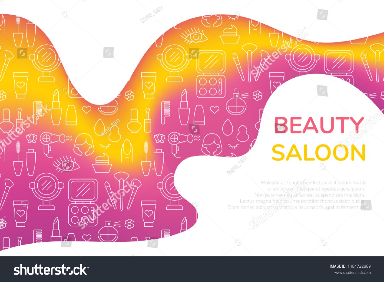 Promotion Cosmetics Marketing Beauty Salon Vibrant Stock Vector Royalty Free 1484722889