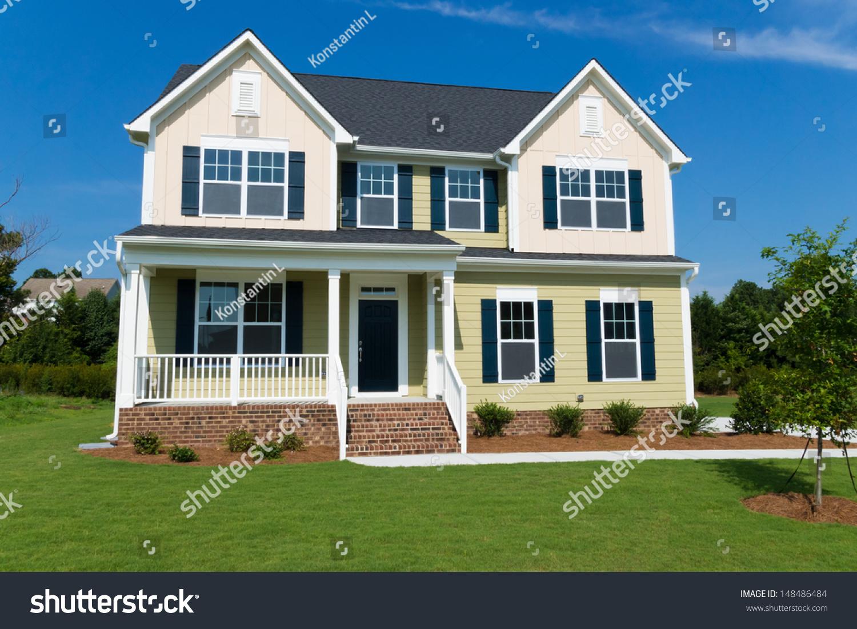 suburban house stock photo 148486484   shutterstock