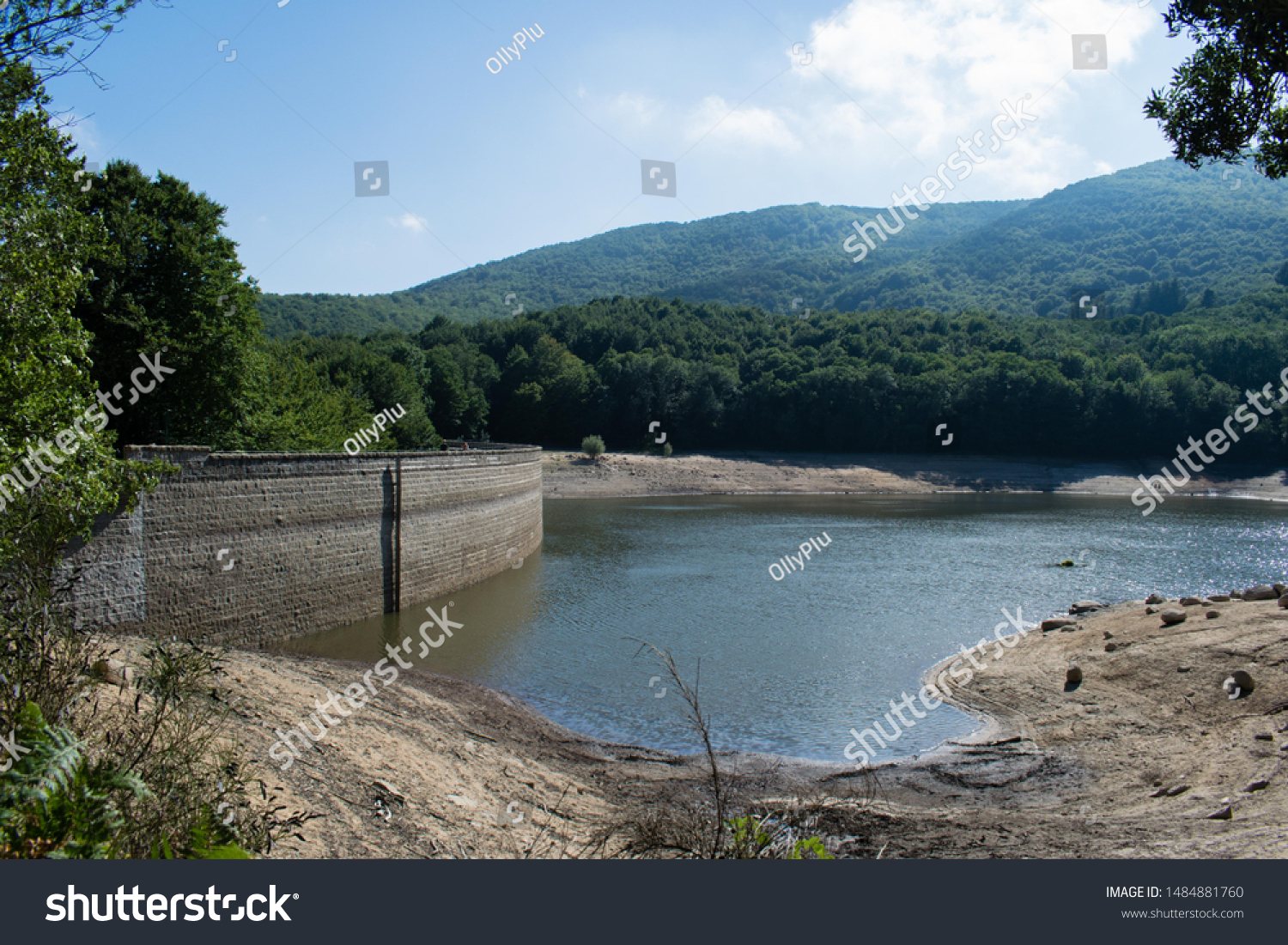 Dried Santa Fe Dam Reservoir Montseny Parks Outdoor Stock Image 1484881760