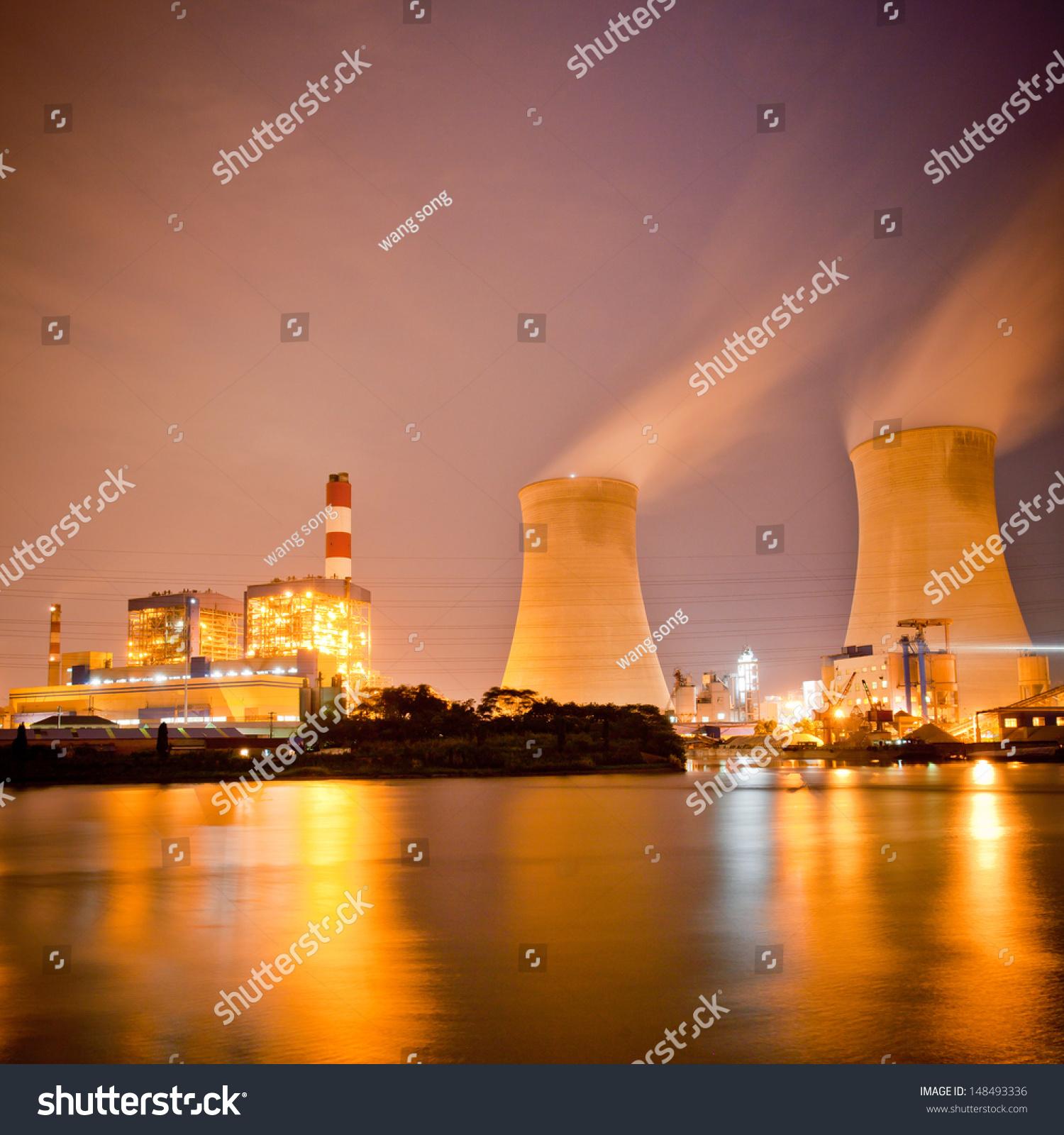 Thermal Power Plant Dusk Stock Shutterstock