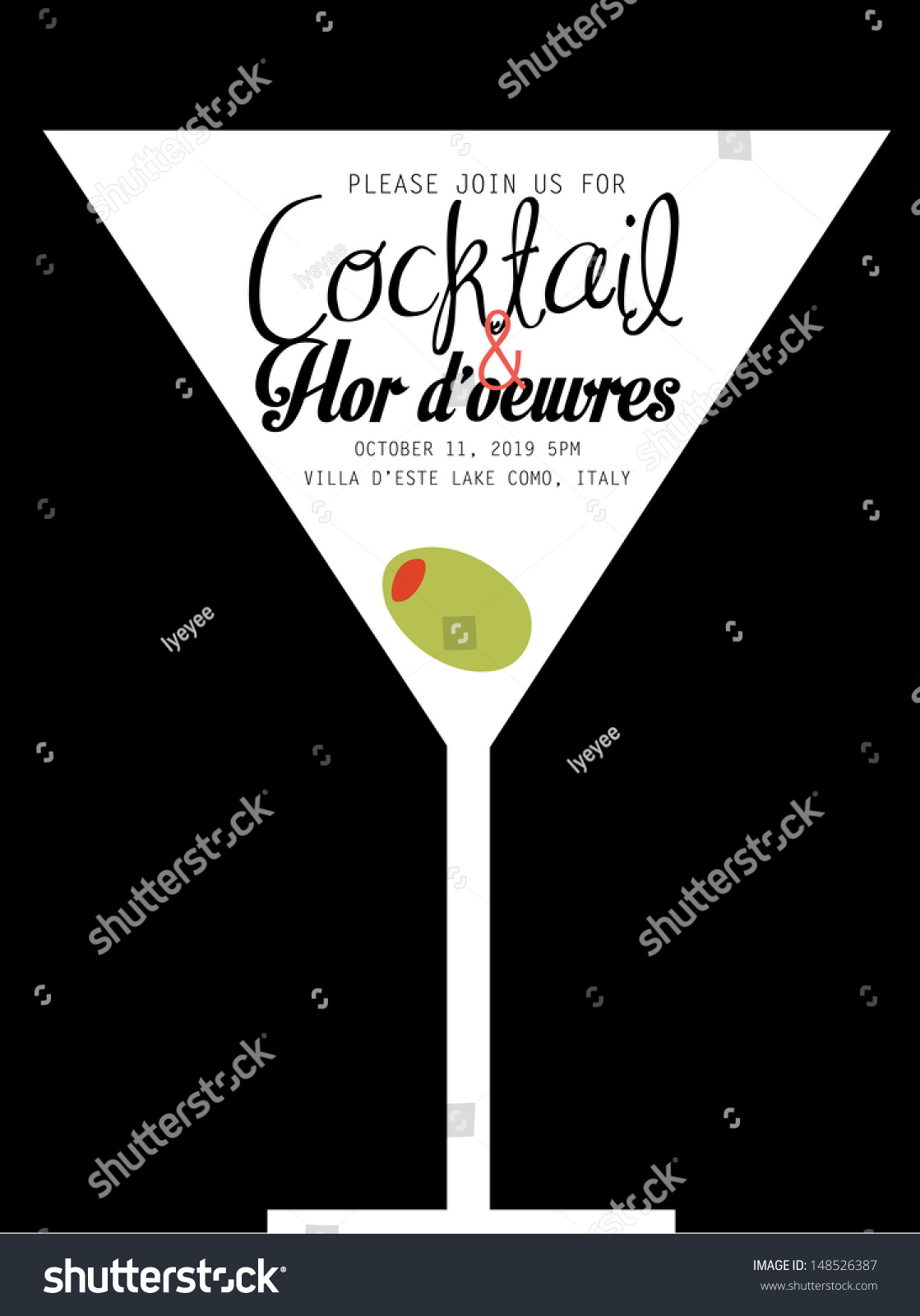Superb Cocktail Party Invitation Templates Free Part - 11: Cocktail Party Invitation Template Vector/illustration