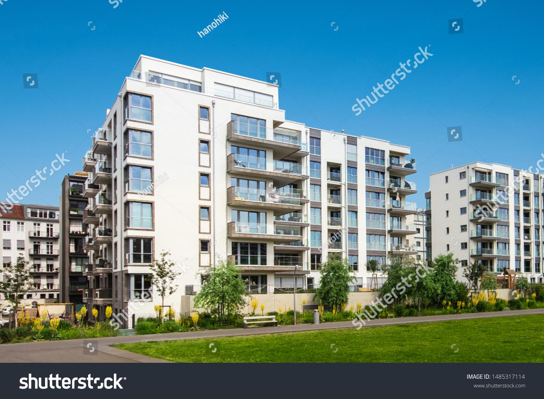 apartment building exterior, residential house facade #1485317114