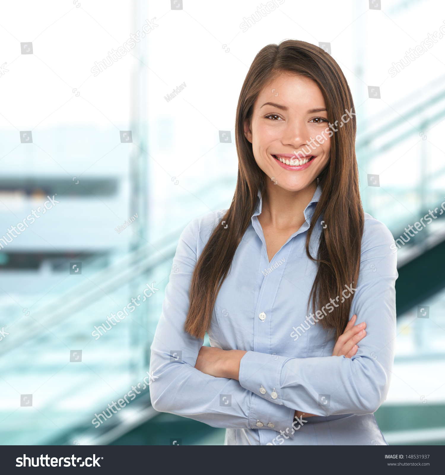 successful business w confident portrait female stock photo successful business w confident portrait female businessw standing proud and cross armed looking at