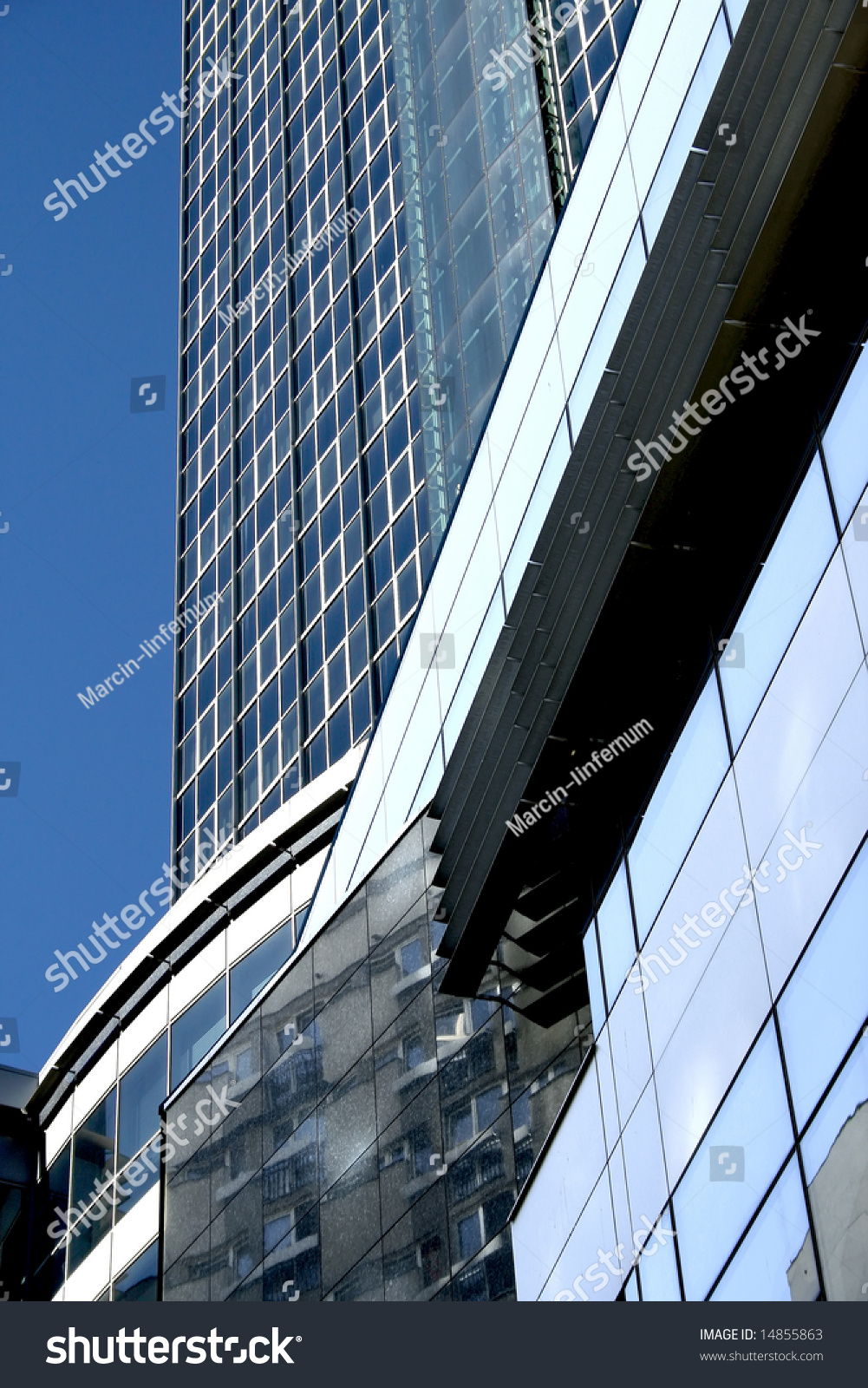 Modern Architecture Poland Details Skyscraper Warsaw