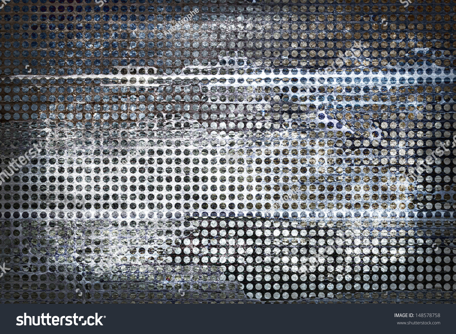 Abstract Gray Background Grid Mesh Holes, Distressed ...