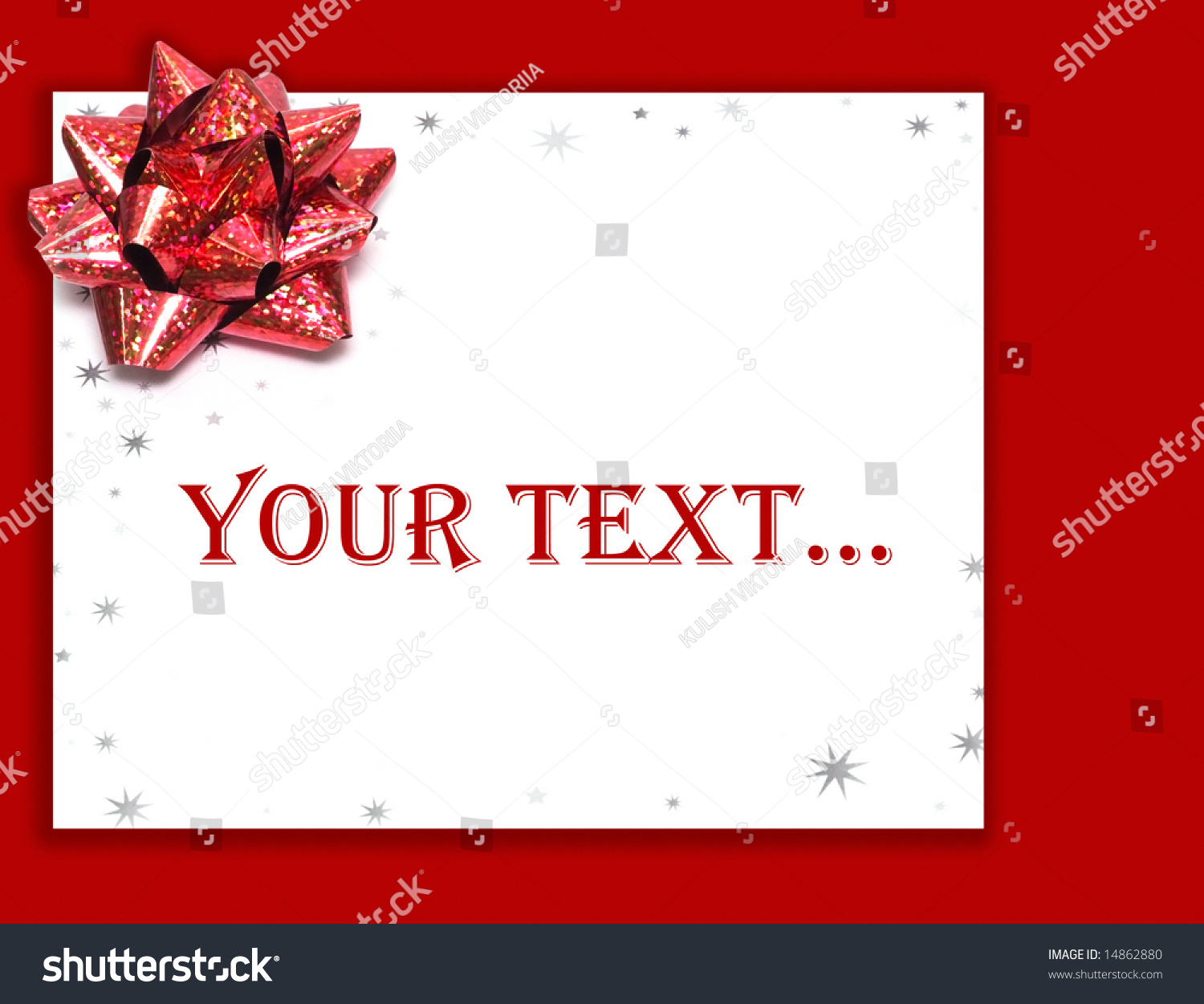 Red gift bows border with clipping path for easy background removing - Save To A Lightbox