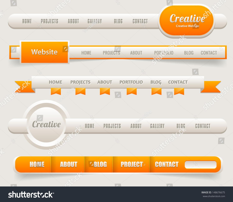 Vector Header Web Menu Design Stock Vector 148676675 - Shutterstock