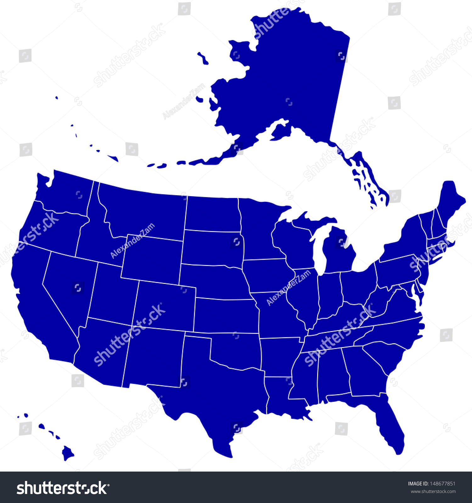 Silhouette Map Of The Usa Source Of Map Www