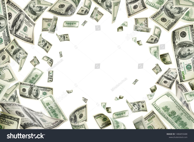 Dollar sign. American money. Cash background, us bill. Money fal #1486855688