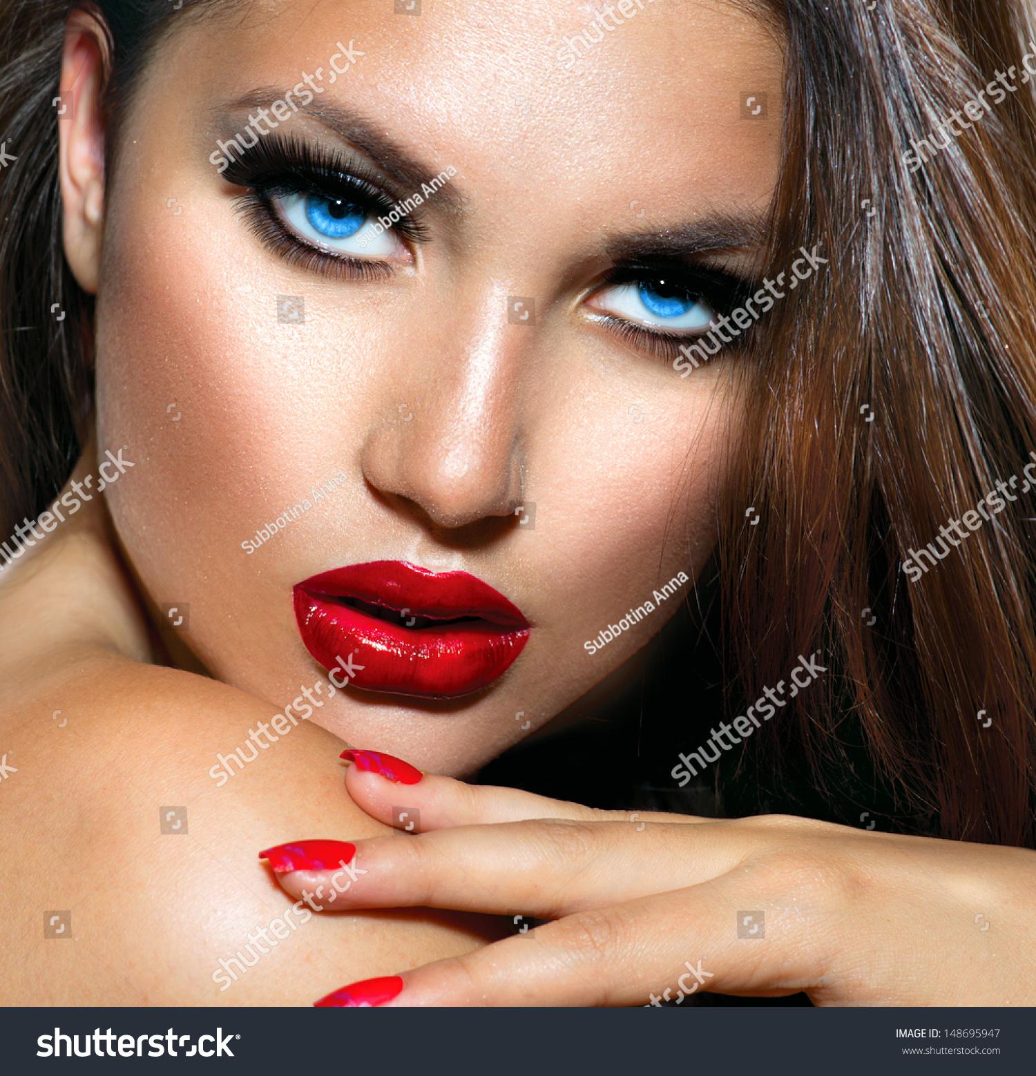 beauty girl face make - photo #44