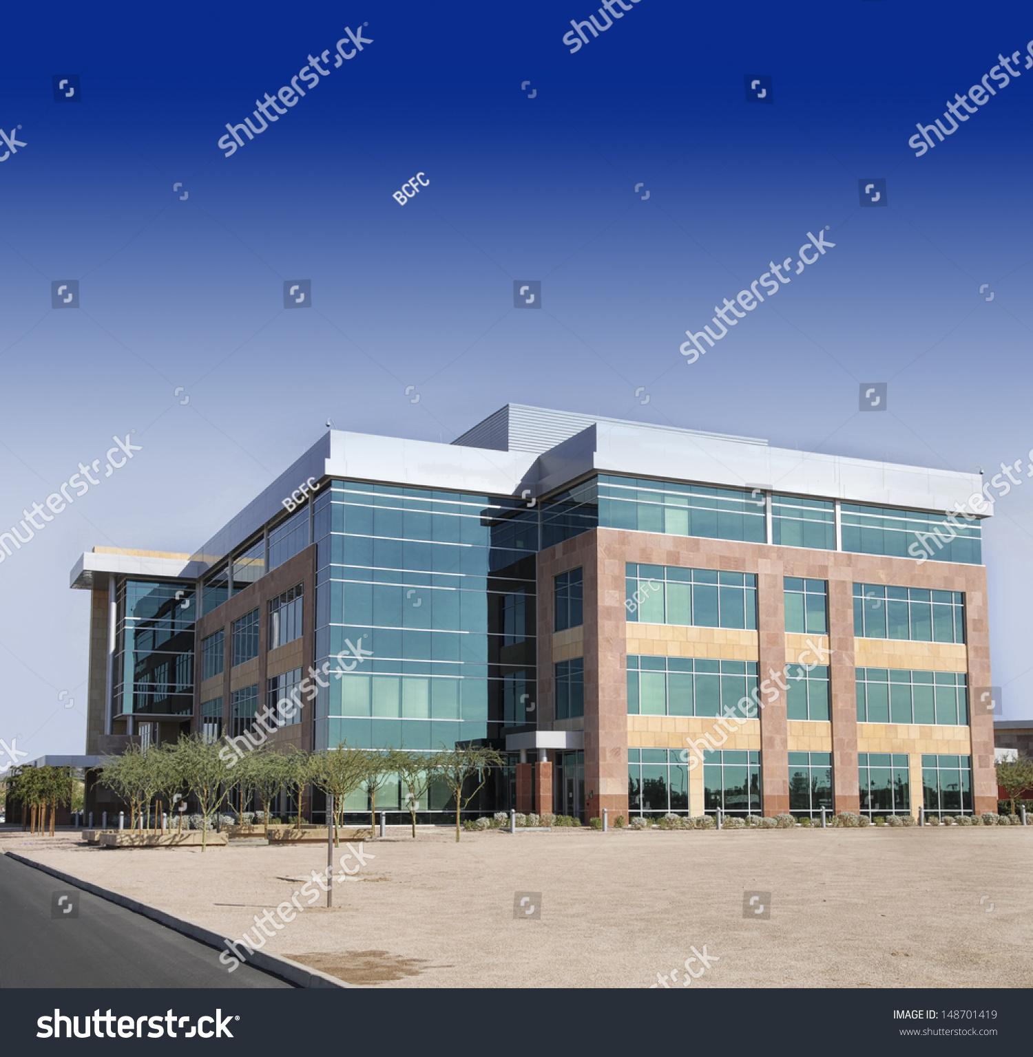modern office building. Large Modern Office Building