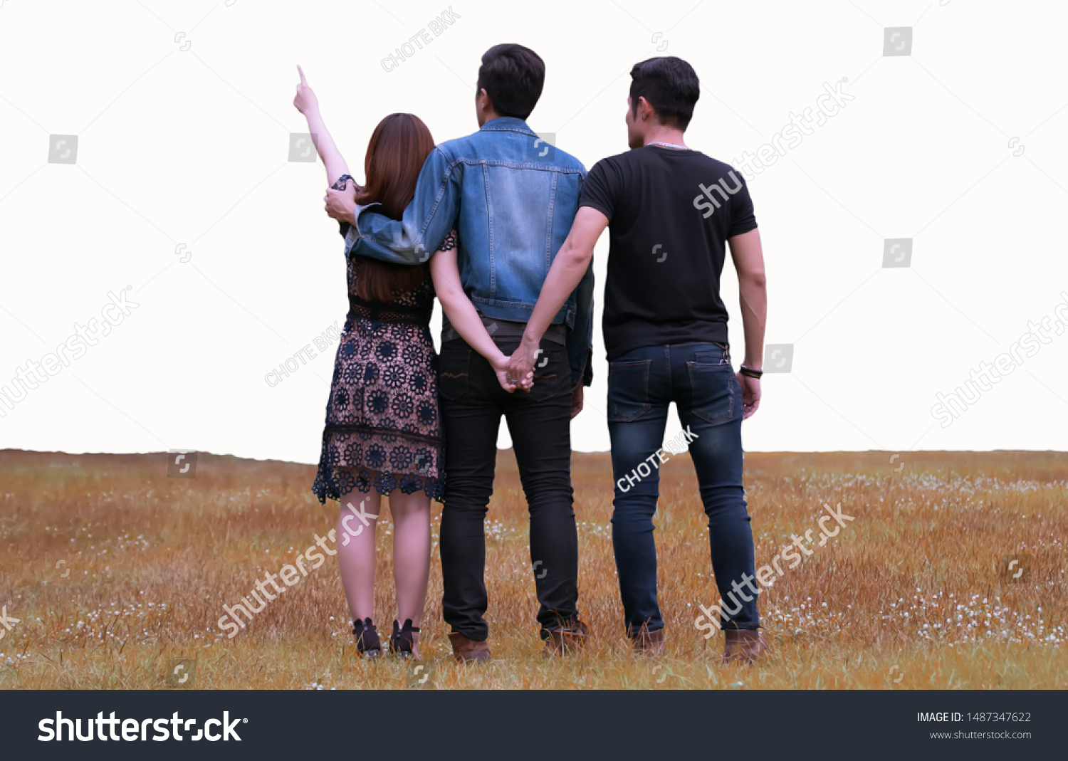 Love Triangle Young Woman Relationship Two Stock Photo Edit Now
