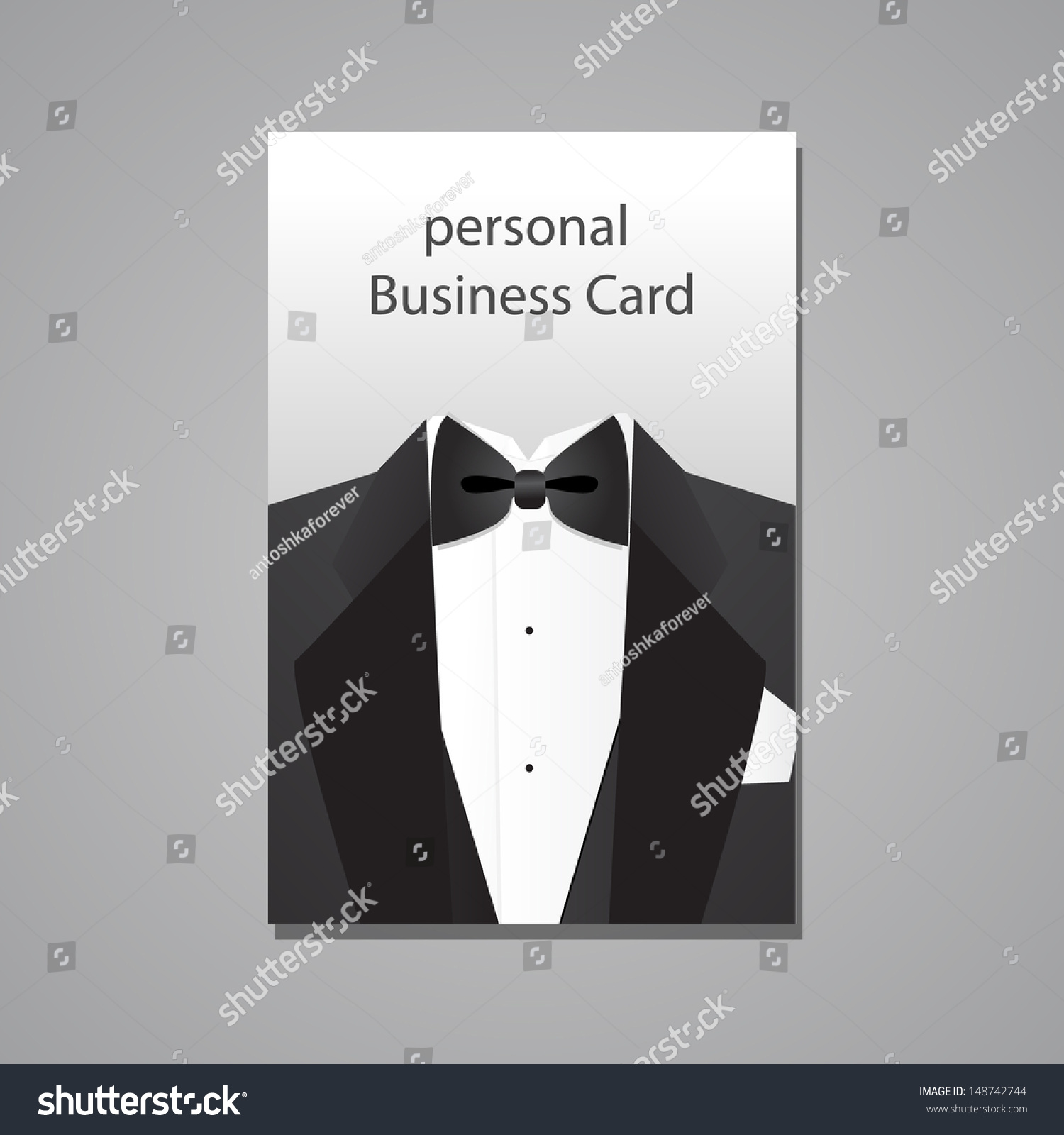 Personal Business Card Design Template Stock Vector 148742744 ...