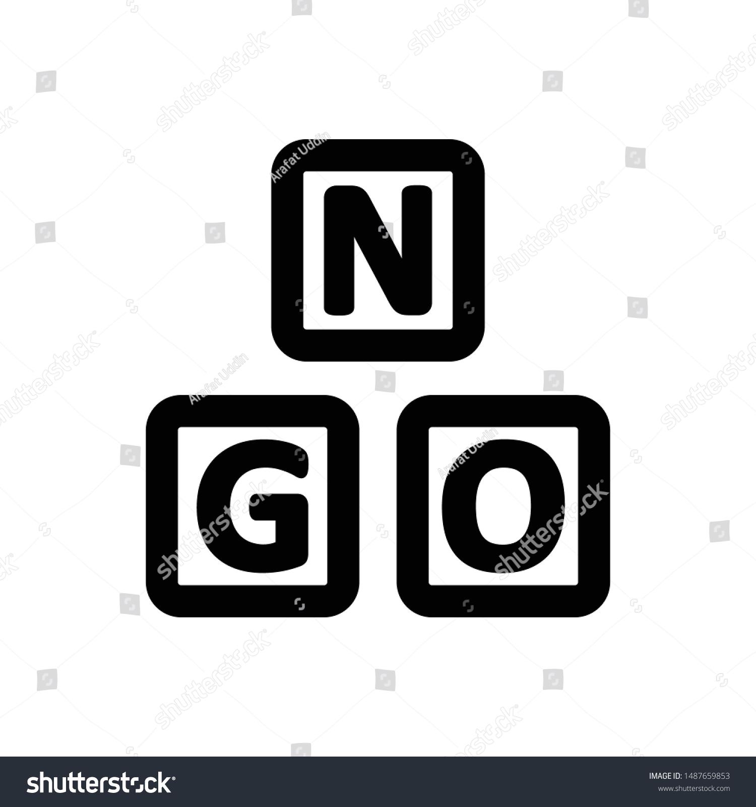 Ngo Organization Charity Donation Icon Stock Vector Royalty Free 1487659853
