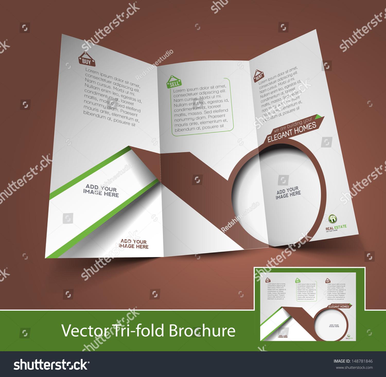 real estate agent mock brochure design stock vector 148781846 real estate agent mock up brochure design