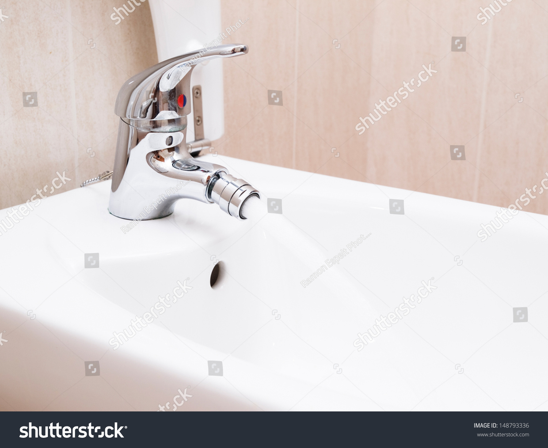 working water tap in bathroom.   EZ Canvas