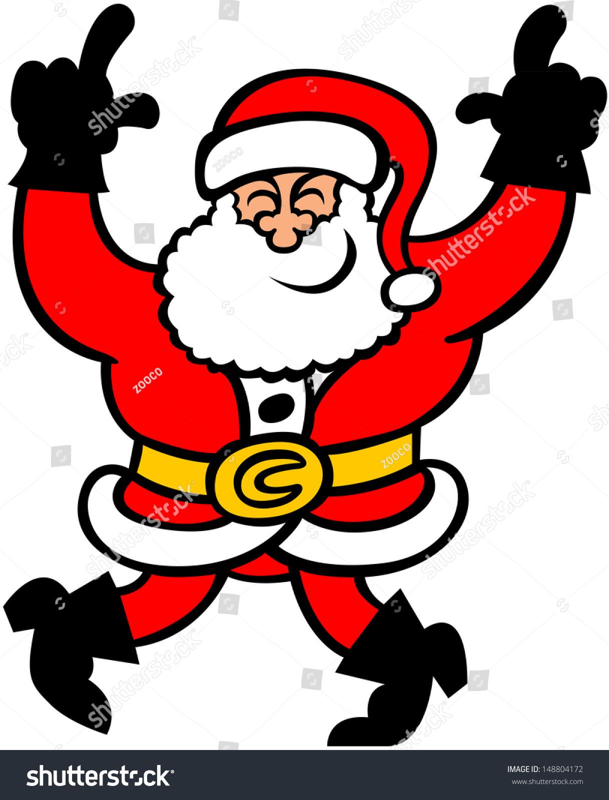 Cool santa claus smiling having fun stock vector
