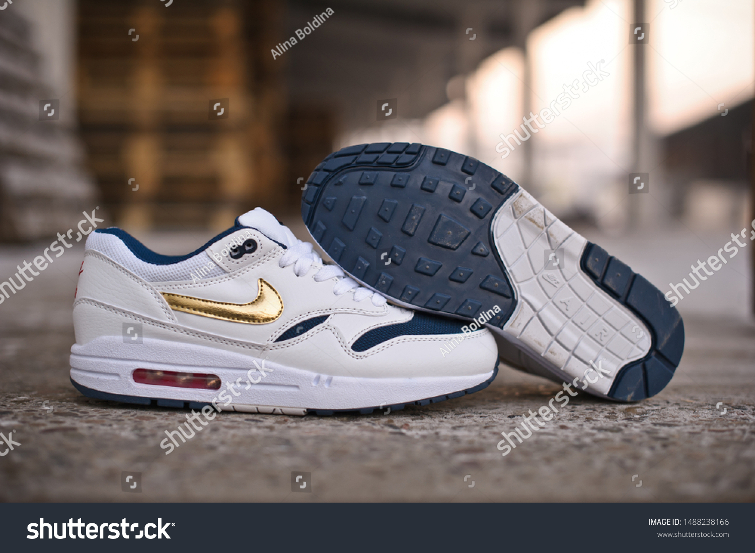 Nike Air Max 1 Essential Olympic Stock Photo (Edit Now) 1488238166