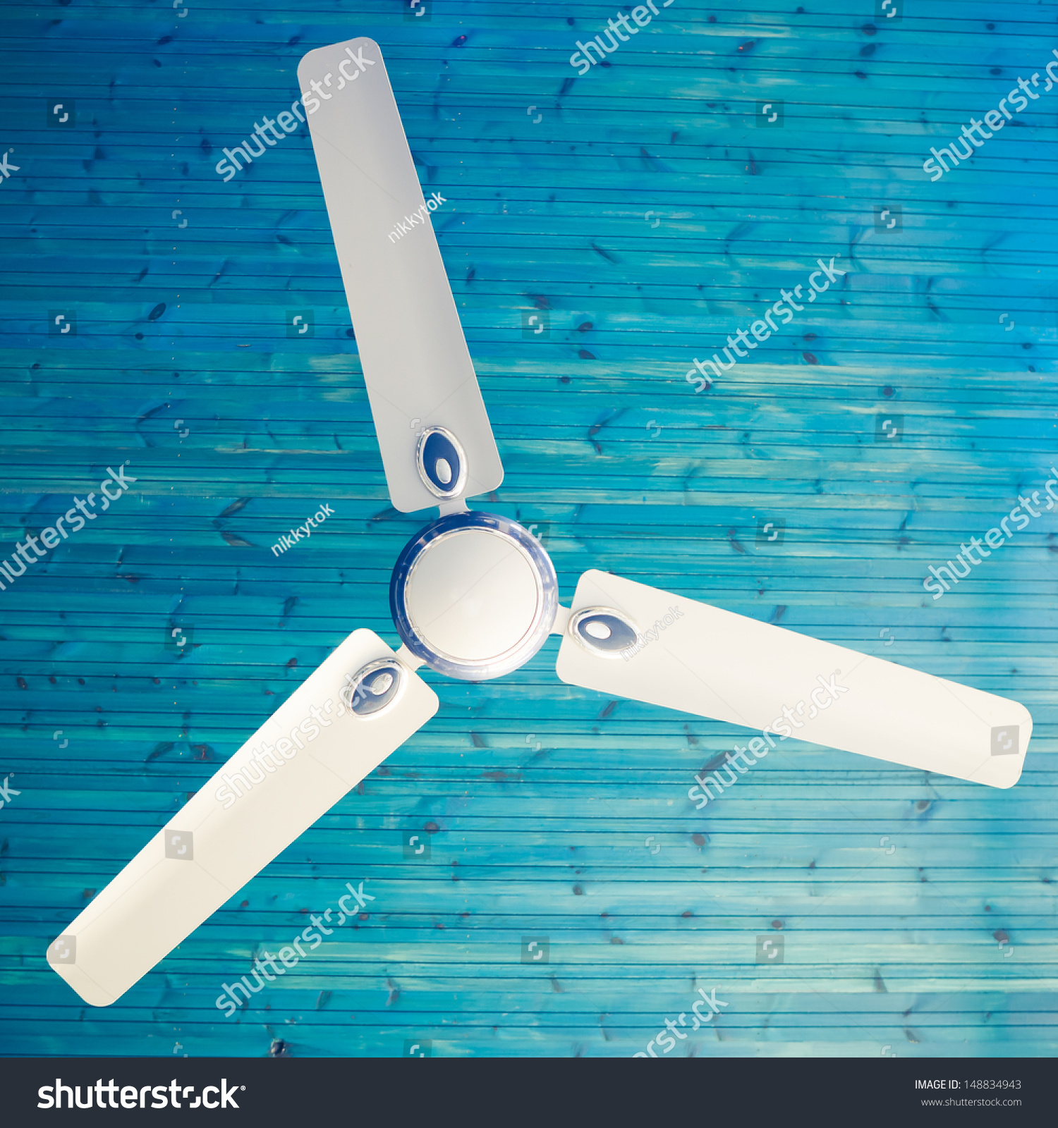 ceiling fan stock photo 148834943 shutterstock. Black Bedroom Furniture Sets. Home Design Ideas