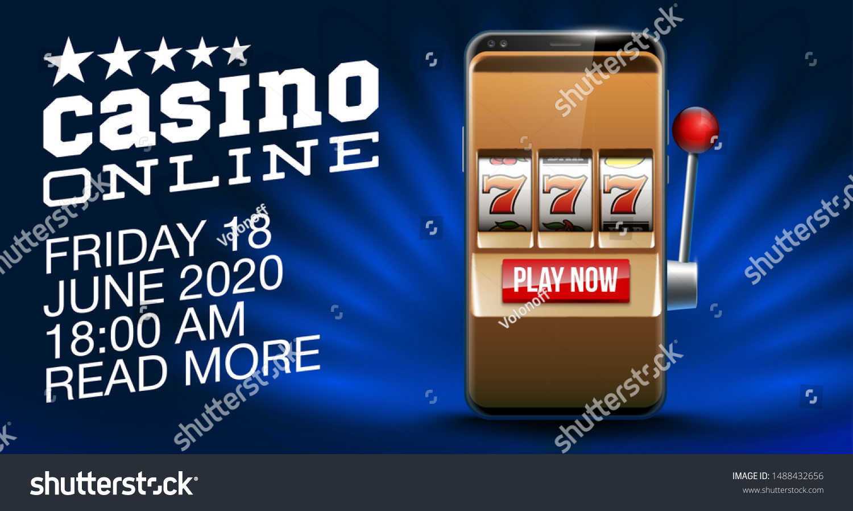 Illustration Banner Mobile Online Casino Application Stock Vector Royalty Free 1488432656