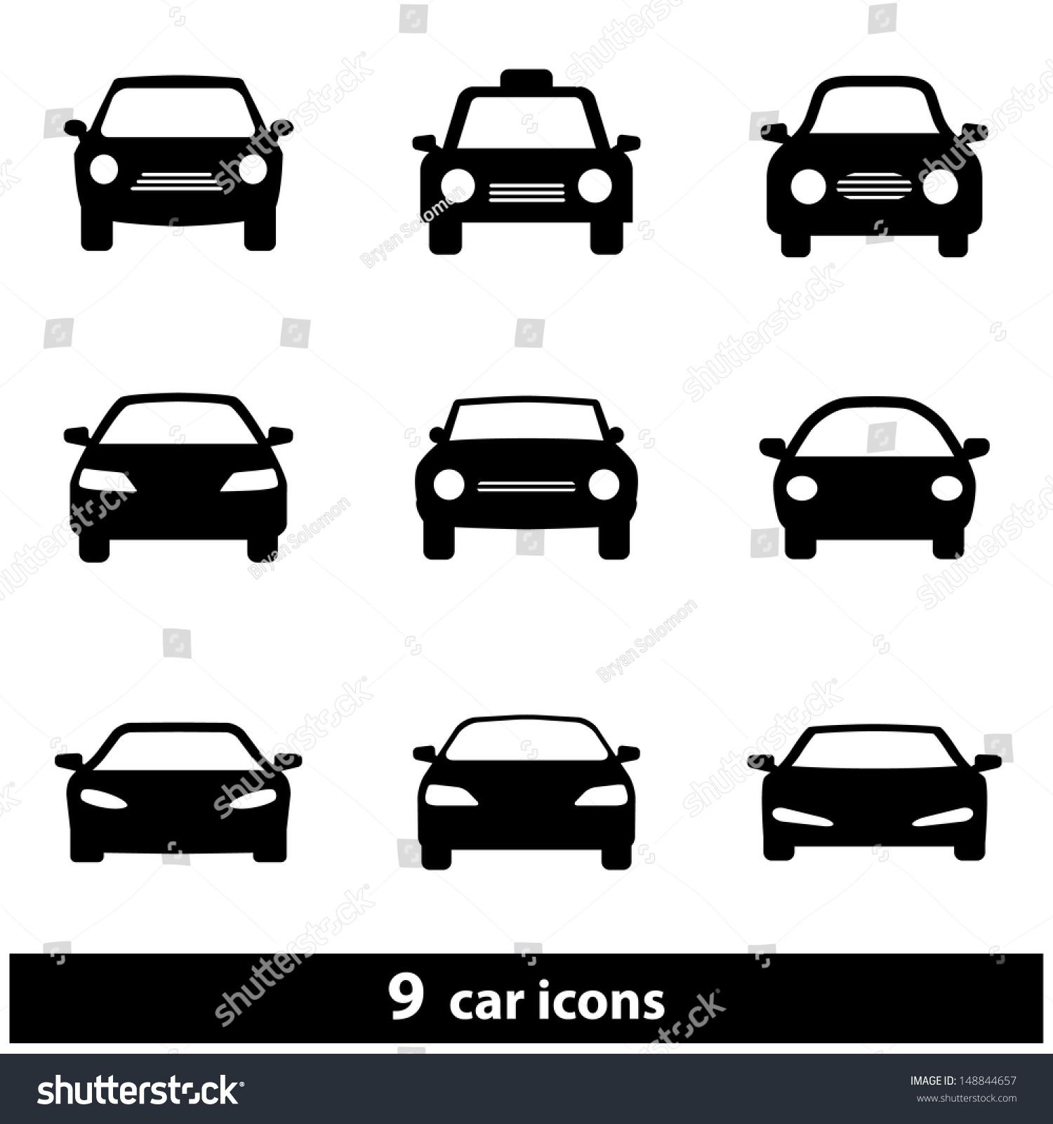 Car Icon Set Raster Version Vector Ilustración de stock148844657 ...