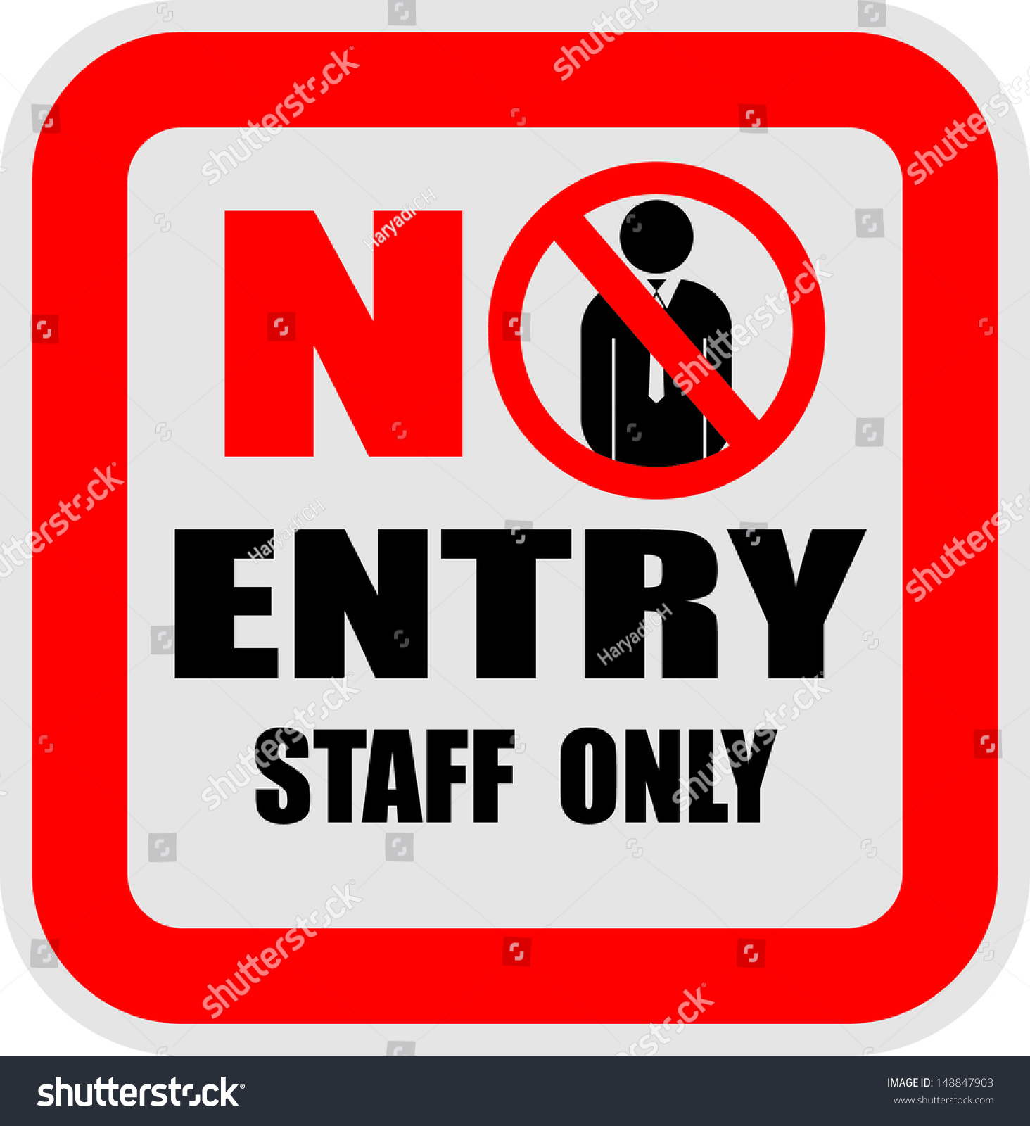 no entry staff only vector stock vector 148847903 shutterstock