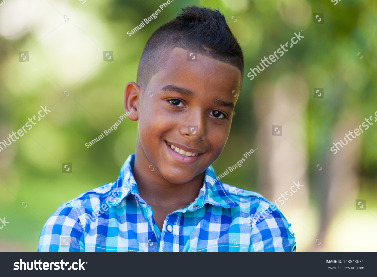 Outdoor Portrait Cute Teenage Black Boy Stock Photo 148848674 - Shutterstock-9036