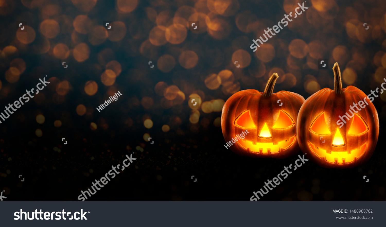 Halloween Background Wallpaper Jack O Lantern Stock Photo Edit