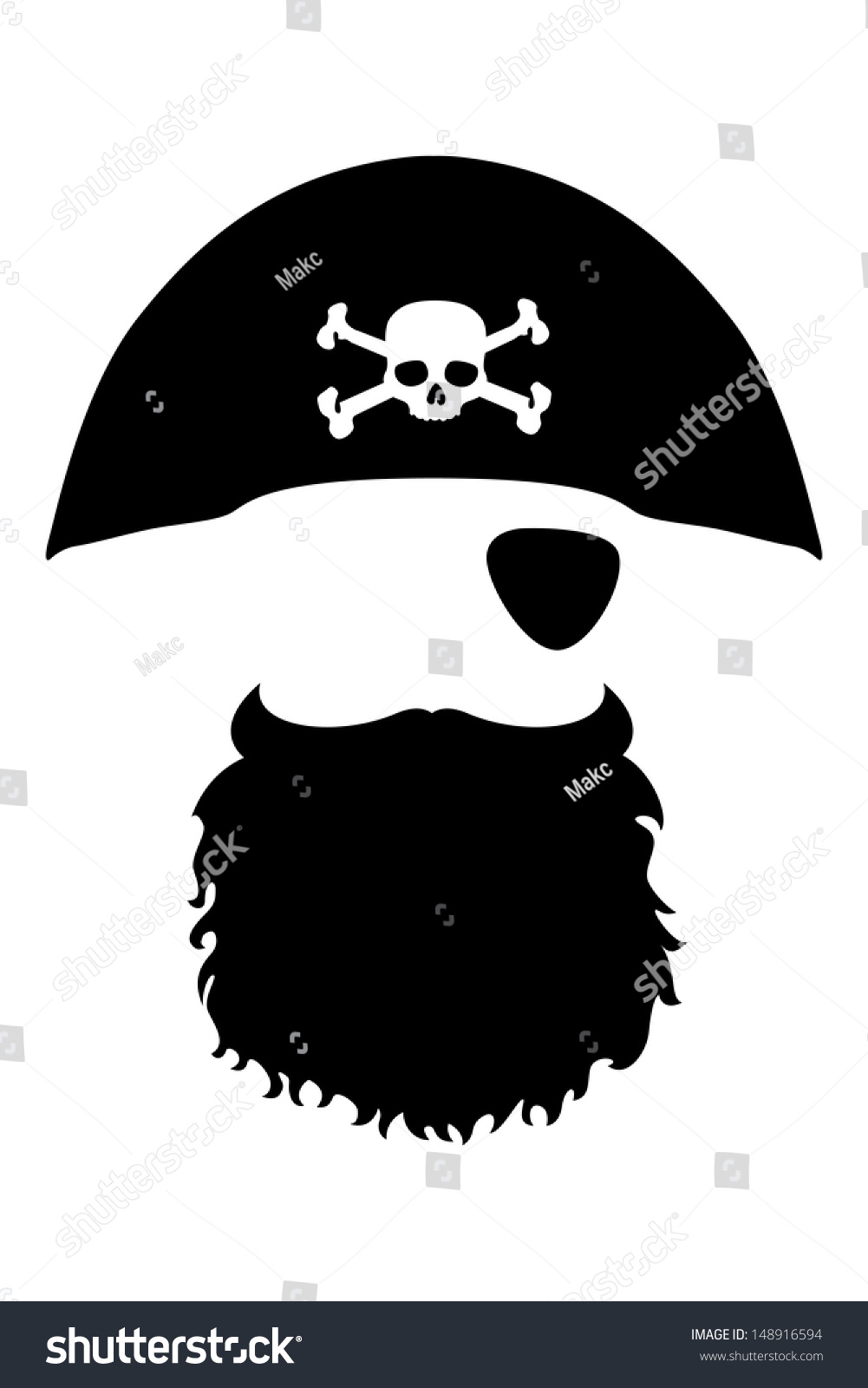 Image gallery for : beard outline tem