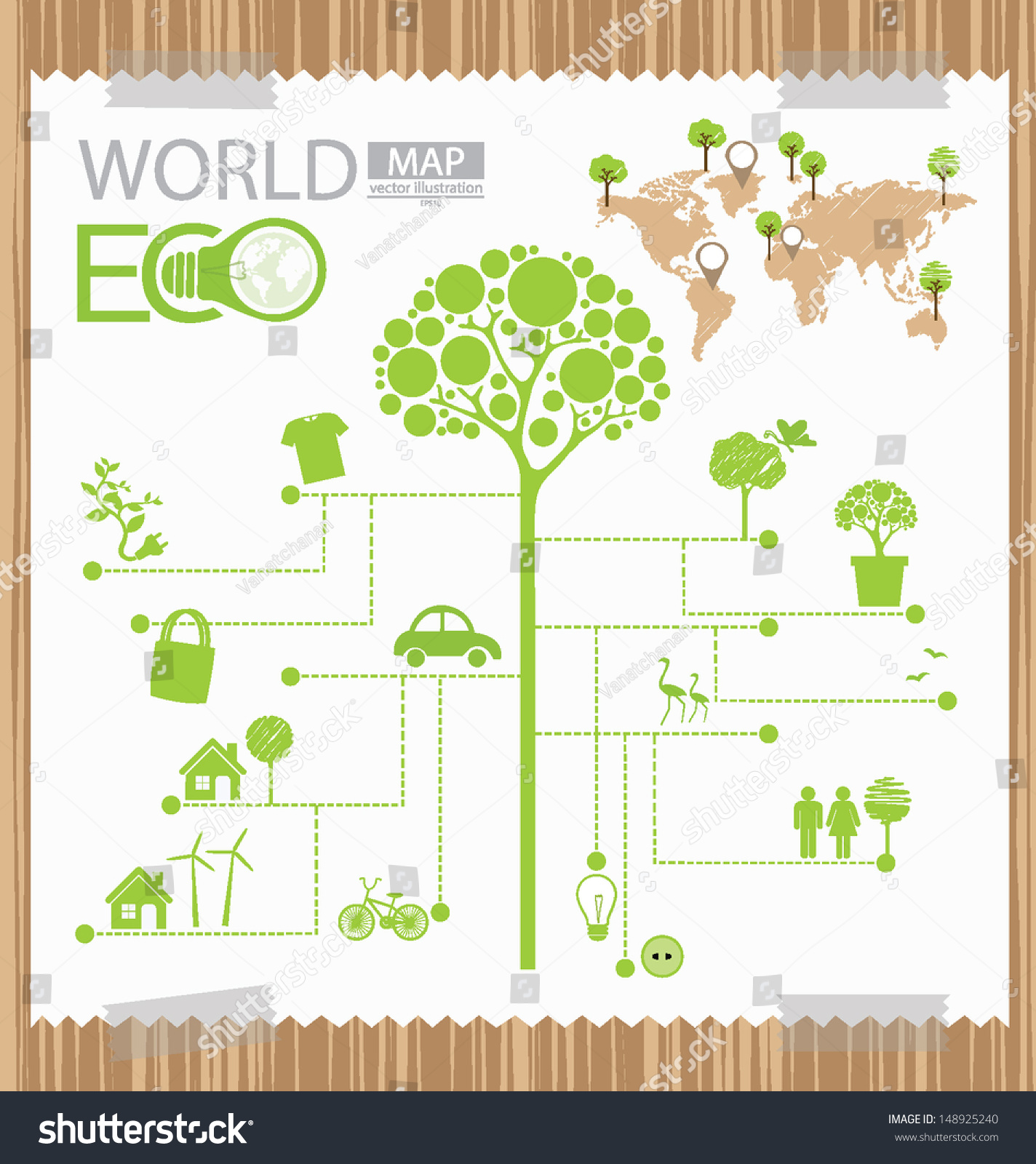 infographic tree diagram go green concept stock vector. Black Bedroom Furniture Sets. Home Design Ideas